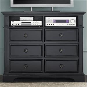 Exceptional Media Chest With 6 Drawers