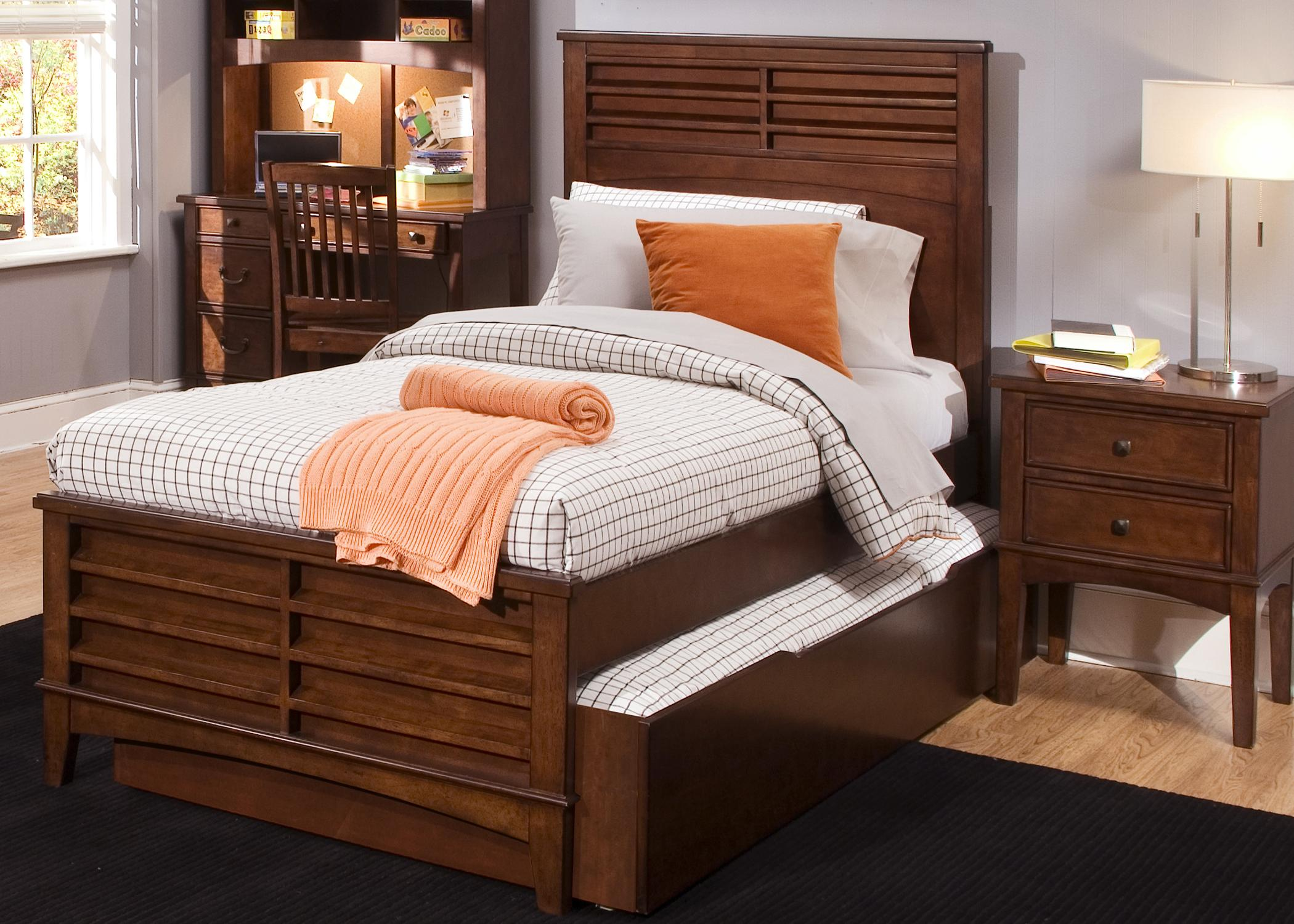 Full Size Panel Bed With Trundle Storage Drawer By Liberty