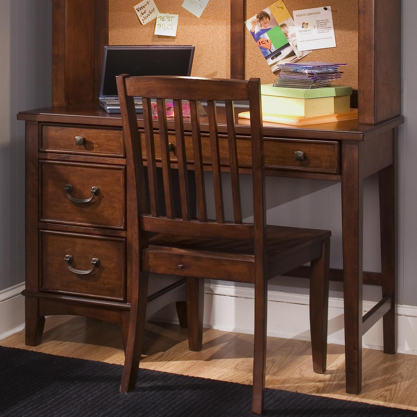 Single Pedestal Student Desk By Liberty Furniture Wolf