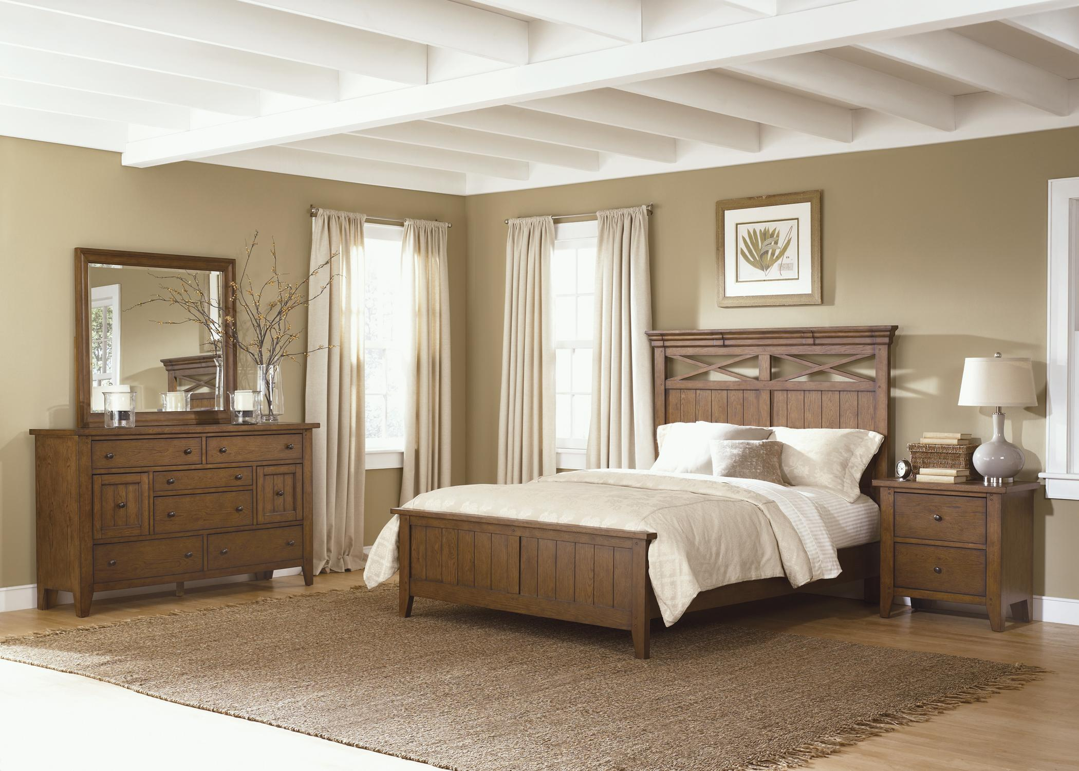 Country Style Queen Panel Bed by Liberty FurnitureWolf and
