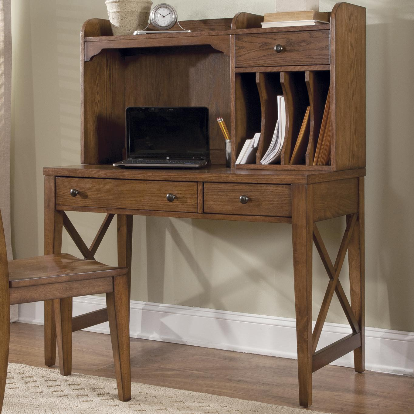 black writing desk with hutch