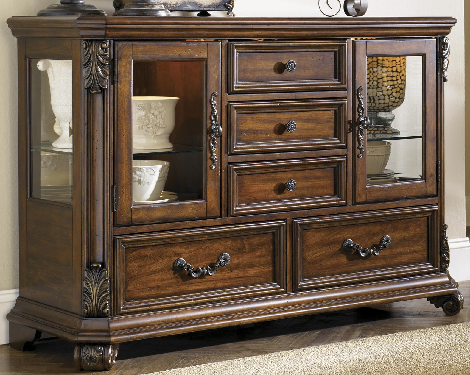 Glass Door Buffet Dining Server by Liberty Furniture | Wolf and ...