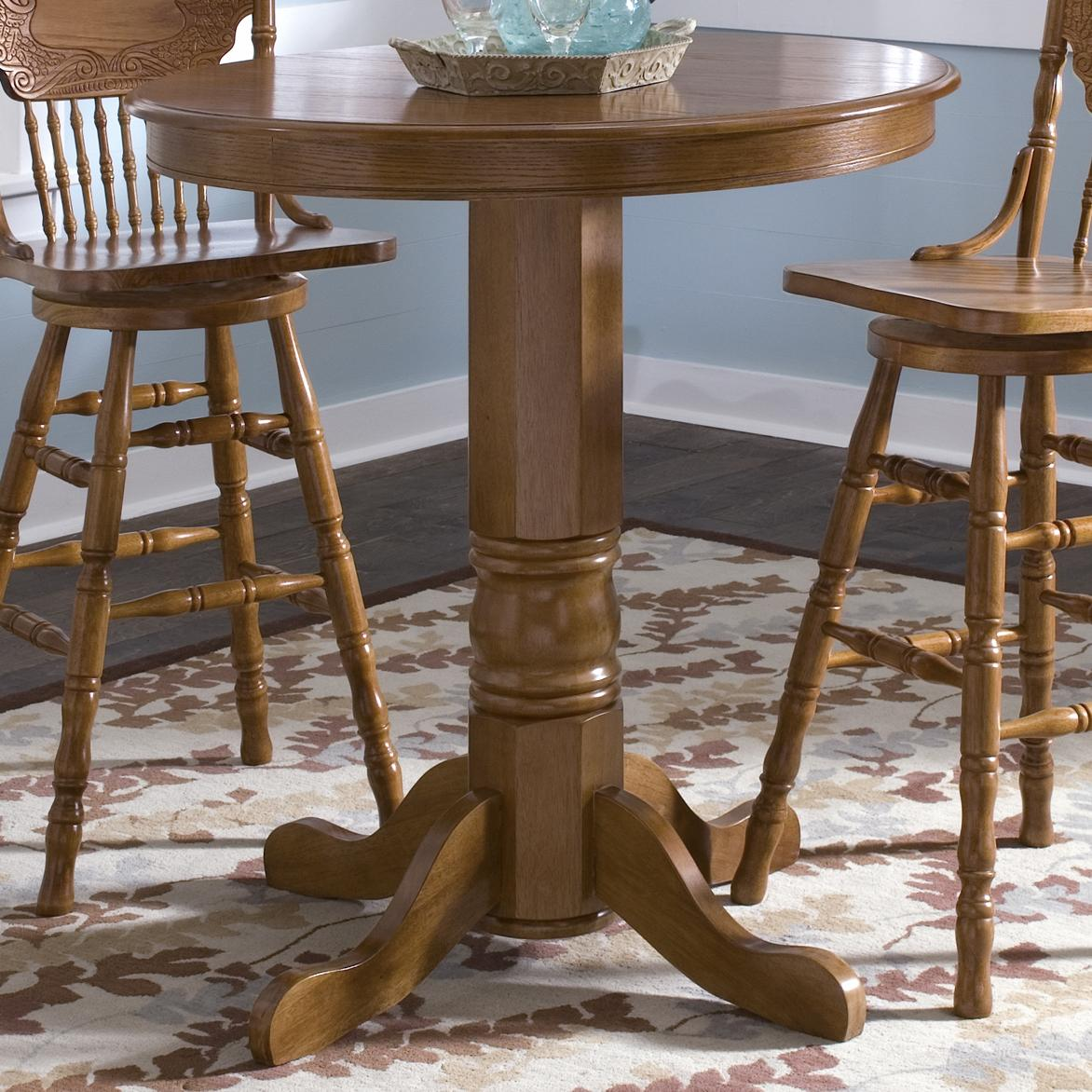 round oak pub table by liberty furniture wolf furniture. Black Bedroom Furniture Sets. Home Design Ideas