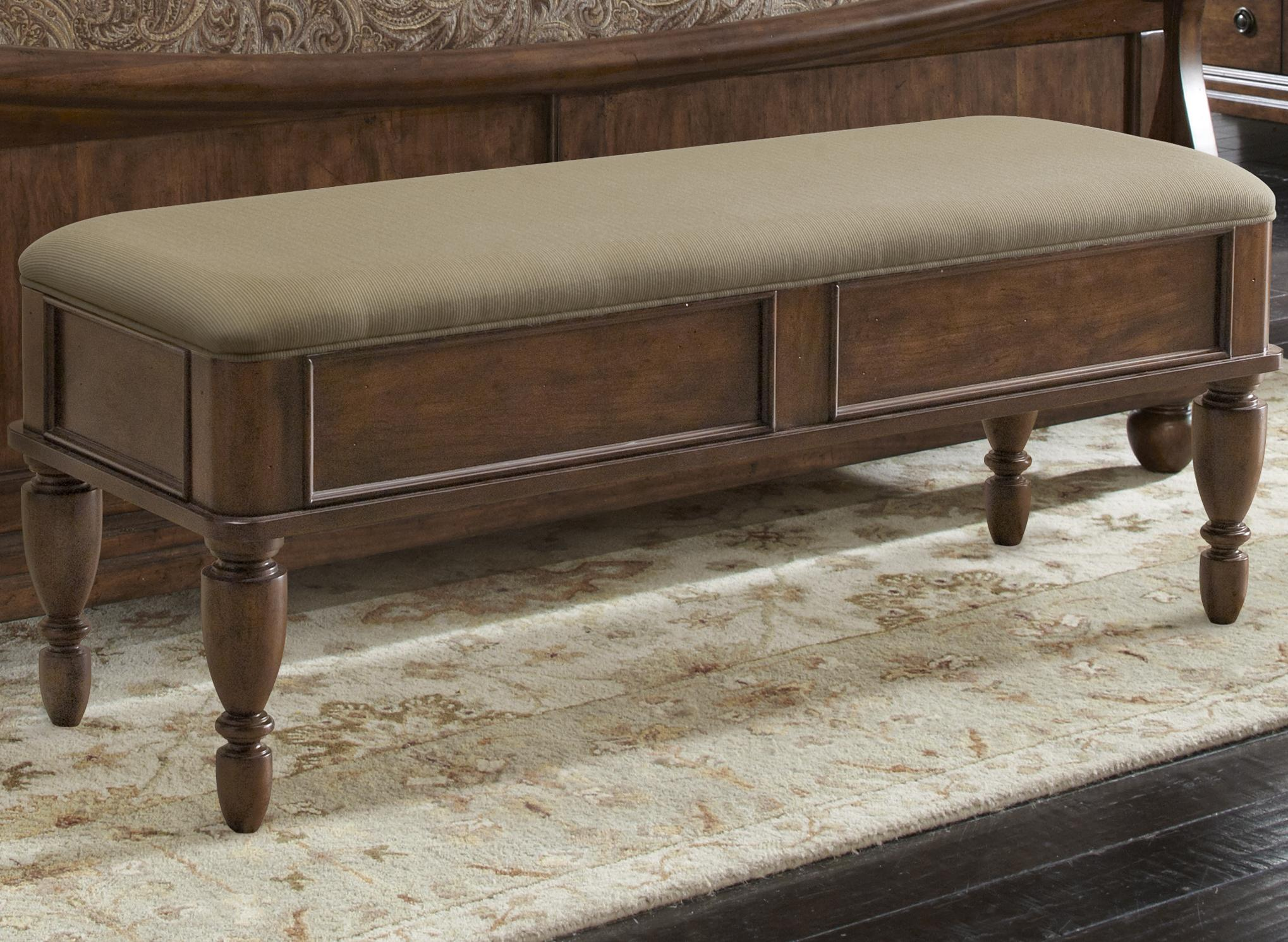 Bed Bench with Upholstered Seat by Liberty Furniture