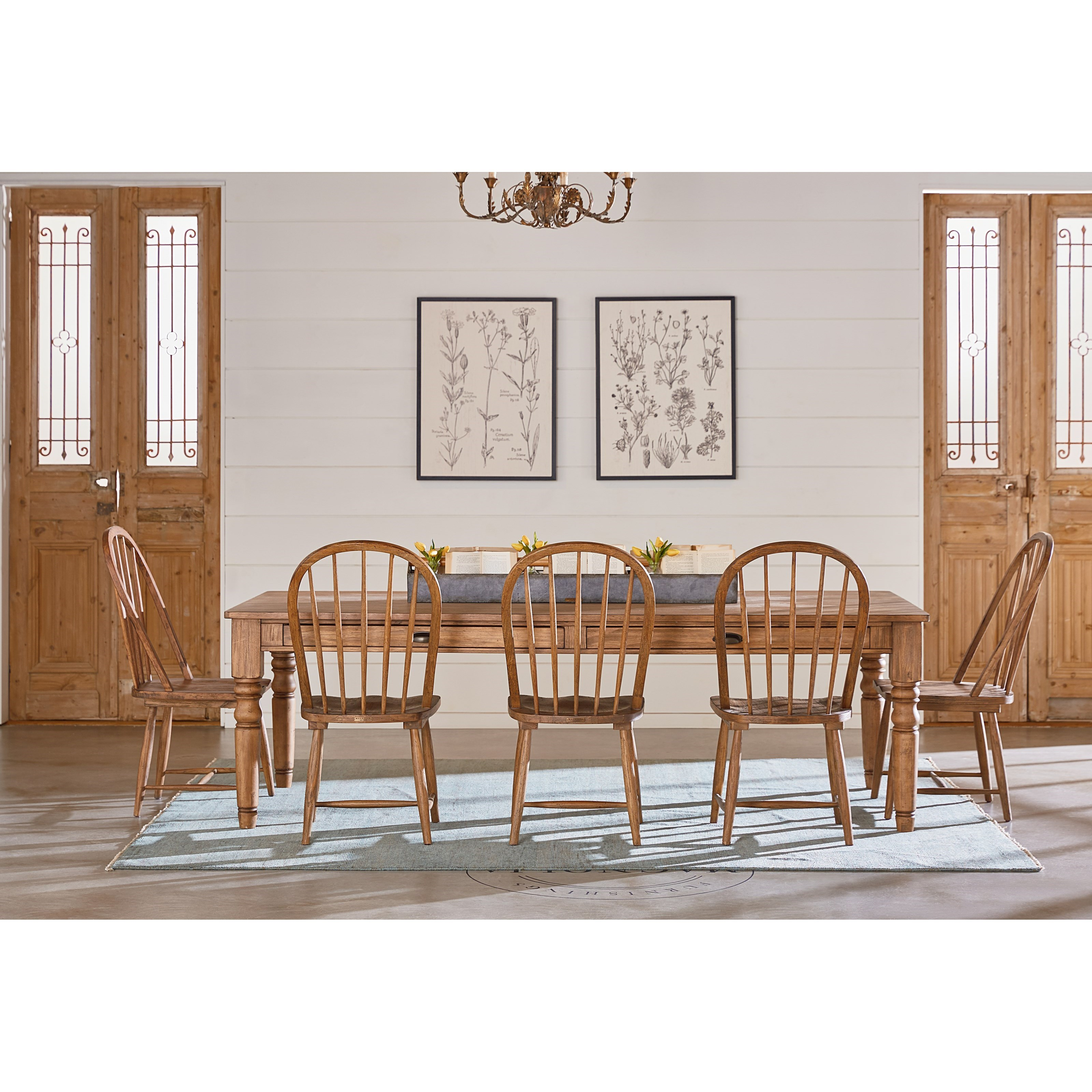 7 foot taper turned dining table by magnolia home by for Magnolia dining table