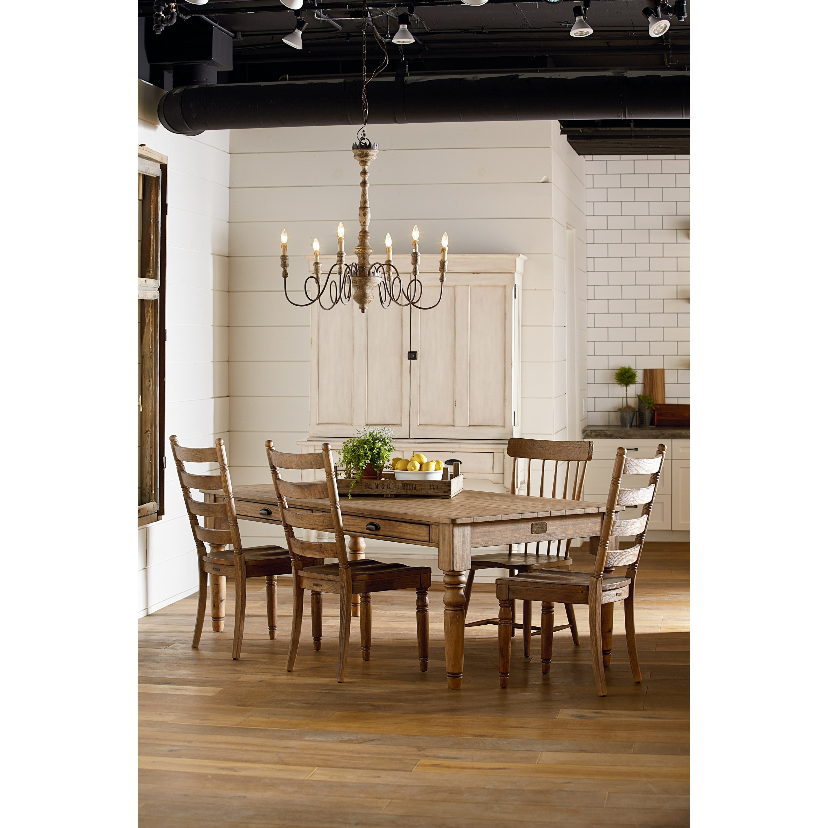 8 foot taper turned dining table by magnolia home by for Magnolia dining table