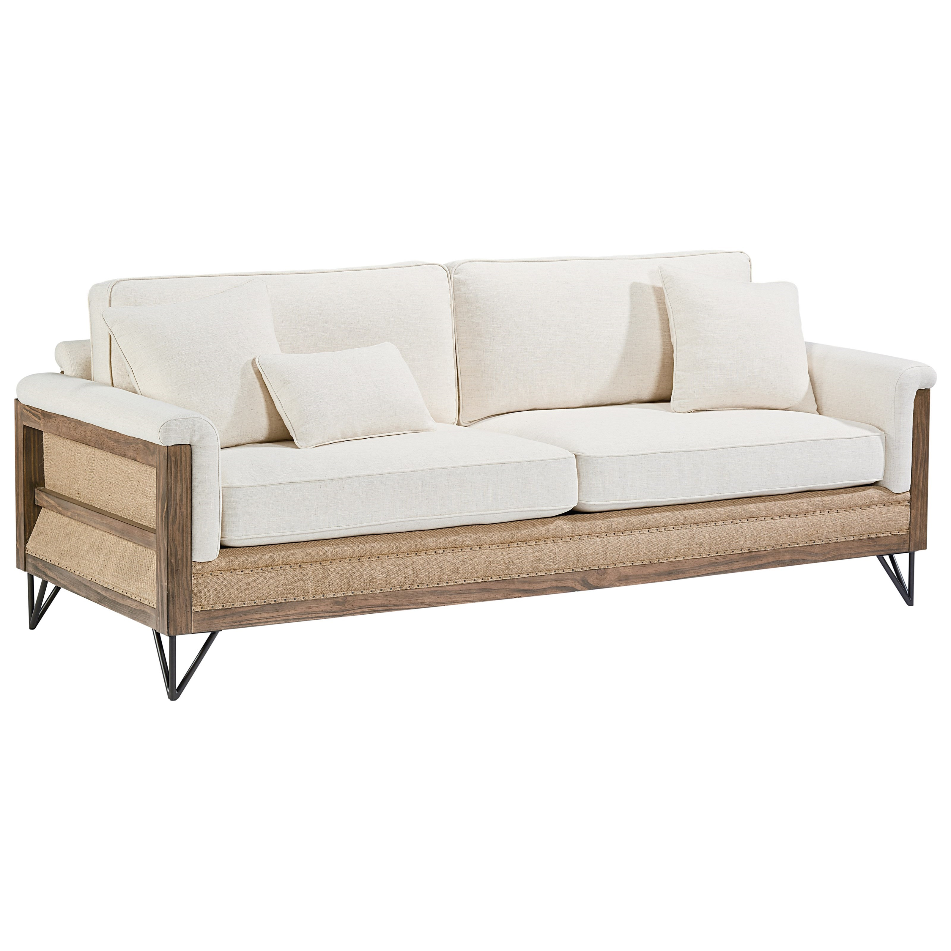Paradigm sofa with exposed wood frame by magnolia home by for Couch lounge