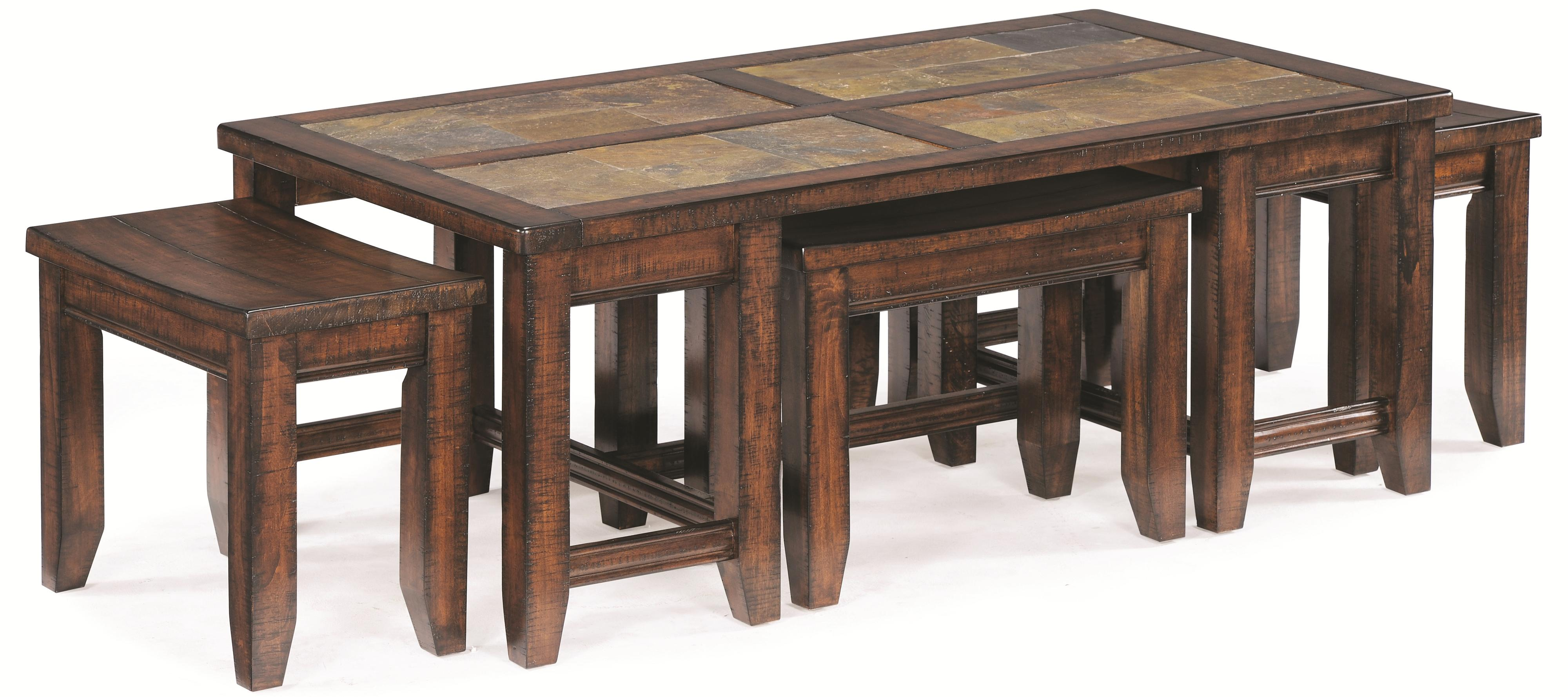 rectangular cocktail table with pull out stools by With rectangular coffee table with stools