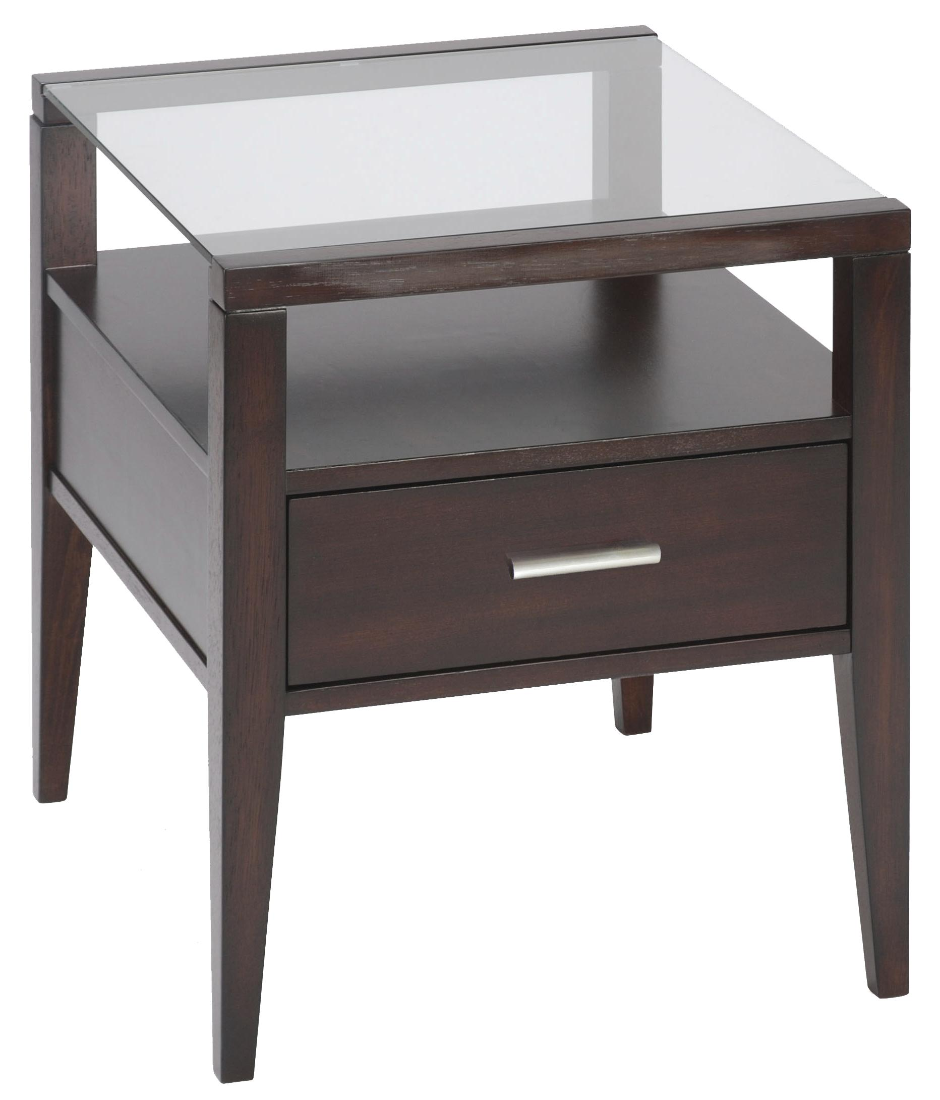 Contemporary End Table With Drawer By Magnussen Home