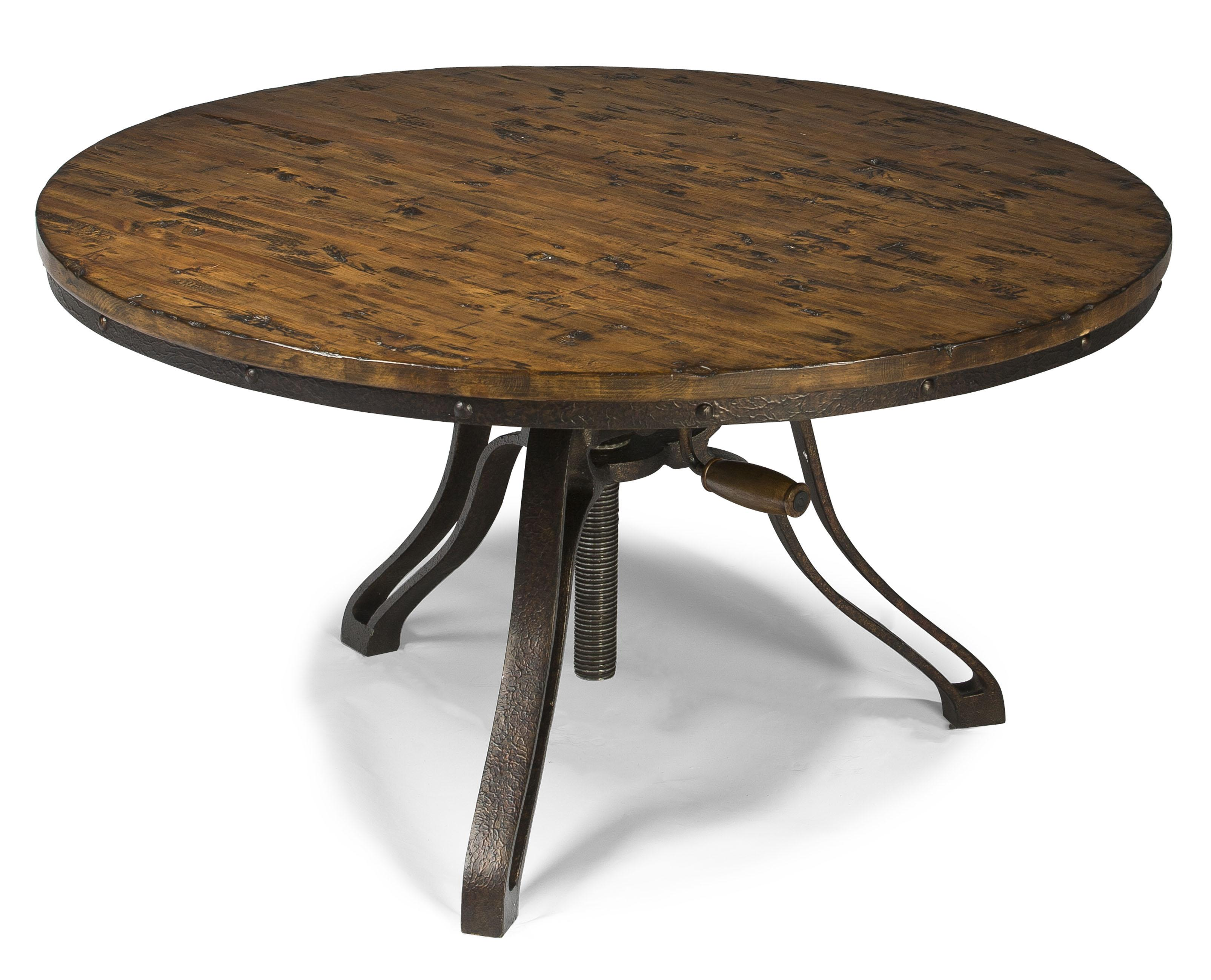 Industrial style round cocktail table with adjustable for Coffee tables york pa