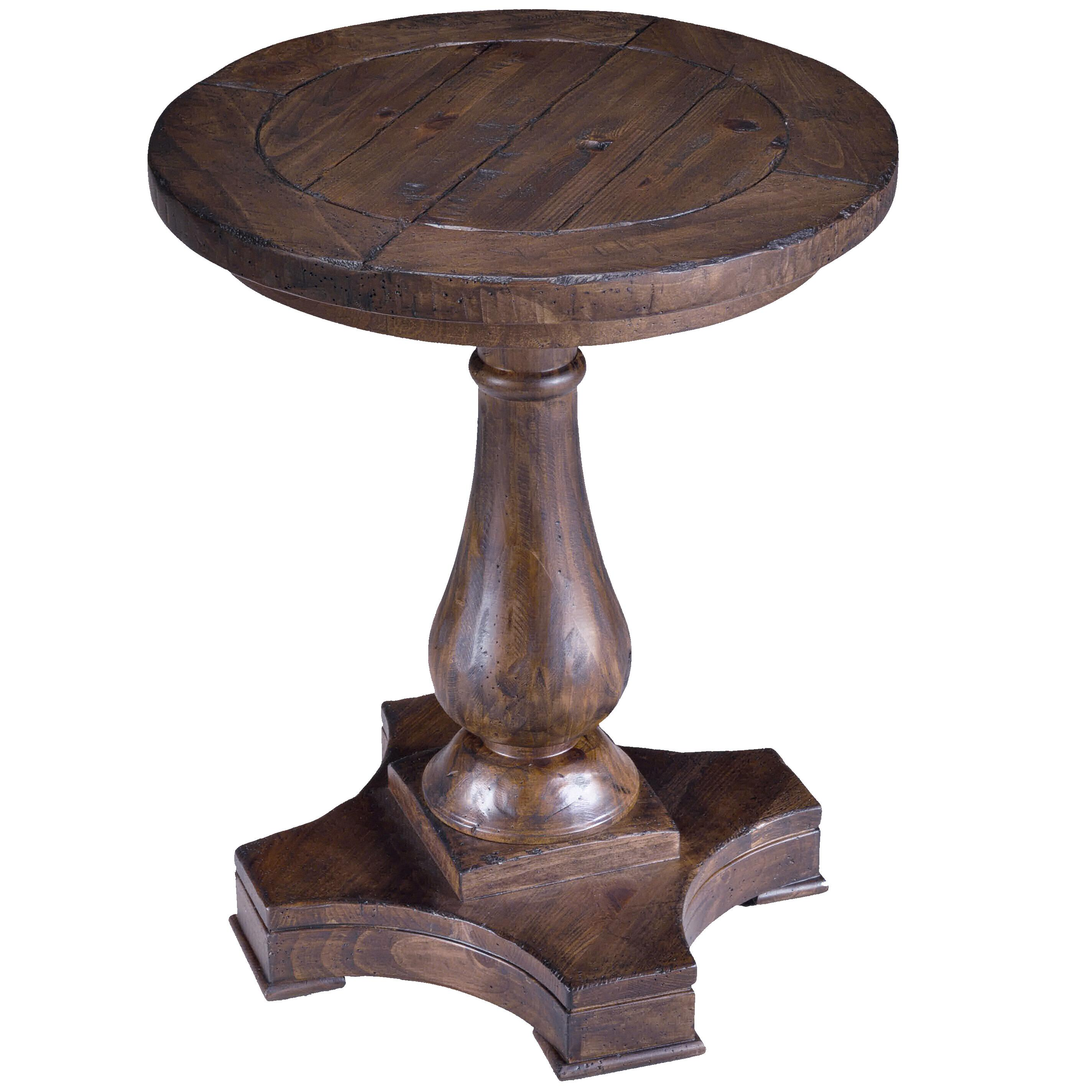 Round column pedestal accent end table by magnussen home for 12 inch round side table