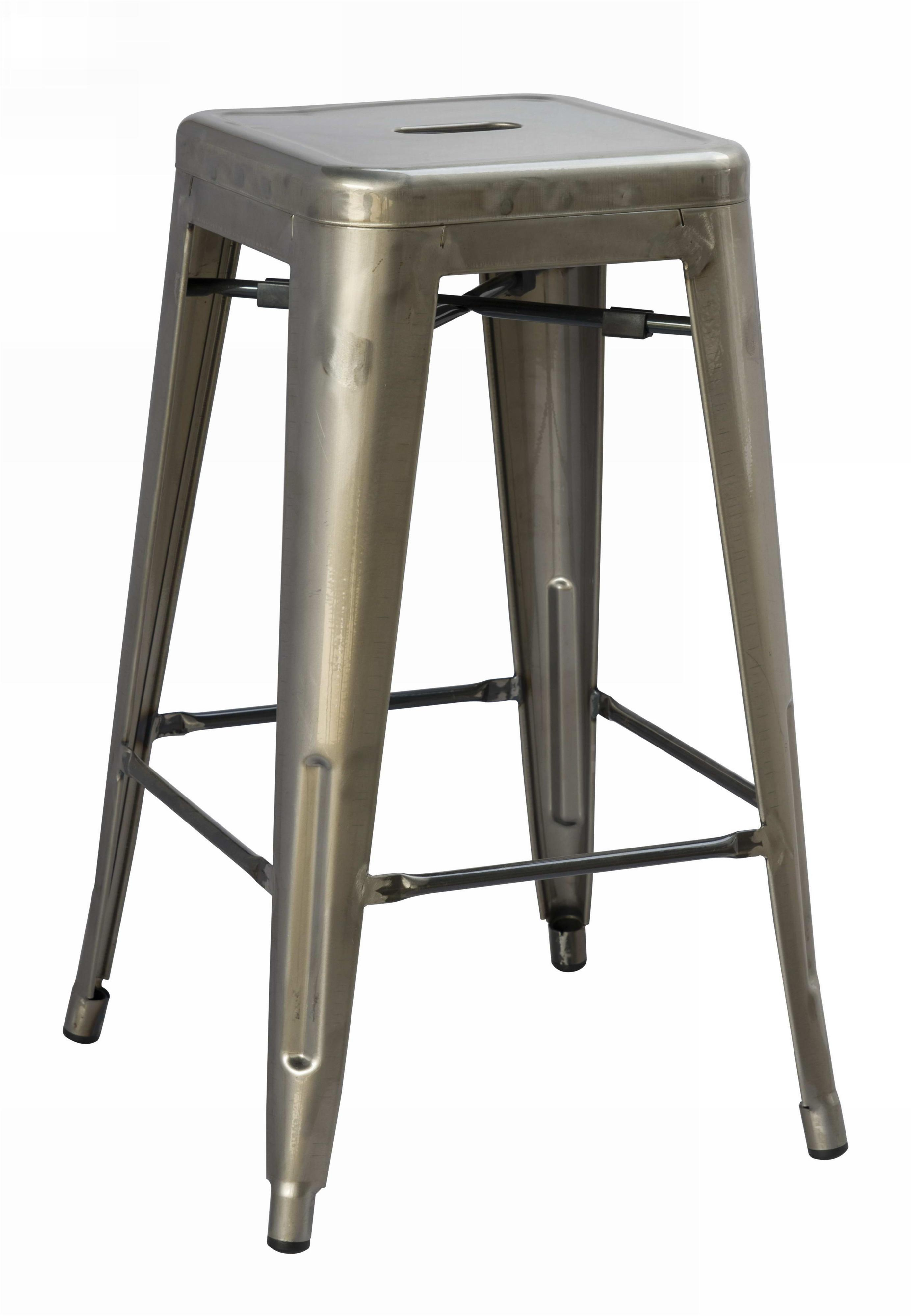 Wonderful image of Vintage Metal Counter Height Stool by Magnussen Home Wolf and  with #796E52 color and 2768x4000 pixels