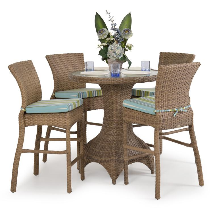 5 pc bar dining set by palm springs rattan wolf and. Black Bedroom Furniture Sets. Home Design Ideas