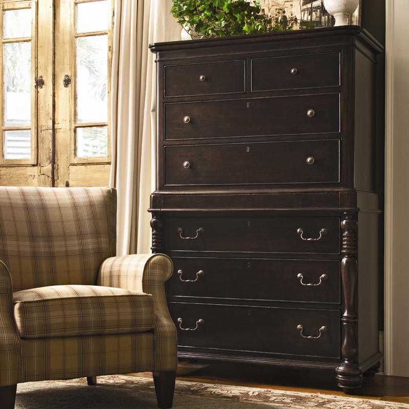 Tall Chest With 7 Drawers And Semi Hidden Jewelry Tray Drawer By Paula Deen By Universal Wolf