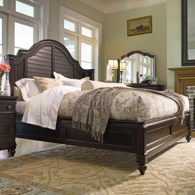 King Steel Magnolia Bed With Panel Headboard And Low Footboard By Paula Deen By Universal Wolf