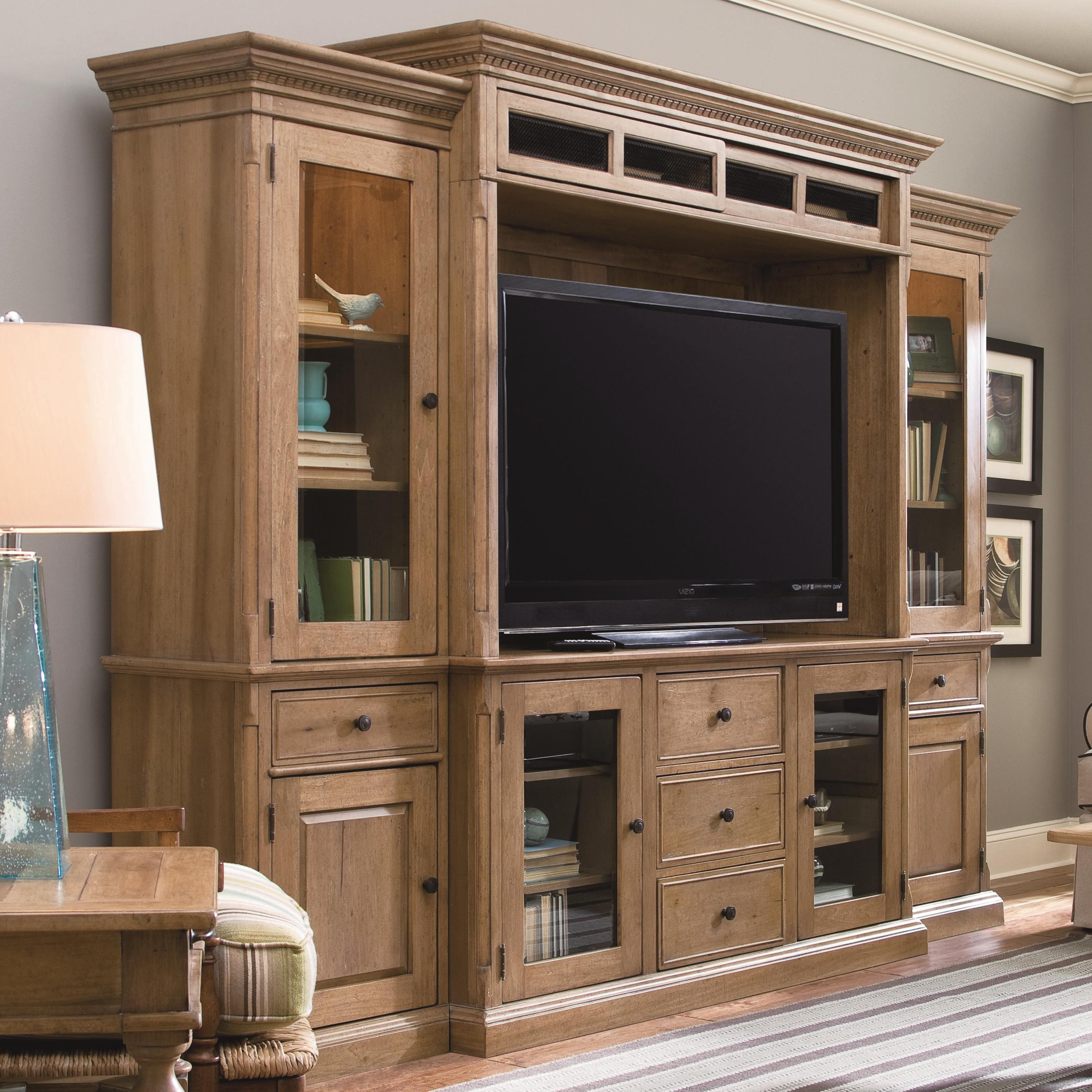 Entertainment console wall unit by paula deen by universal for Large kitchen wall units