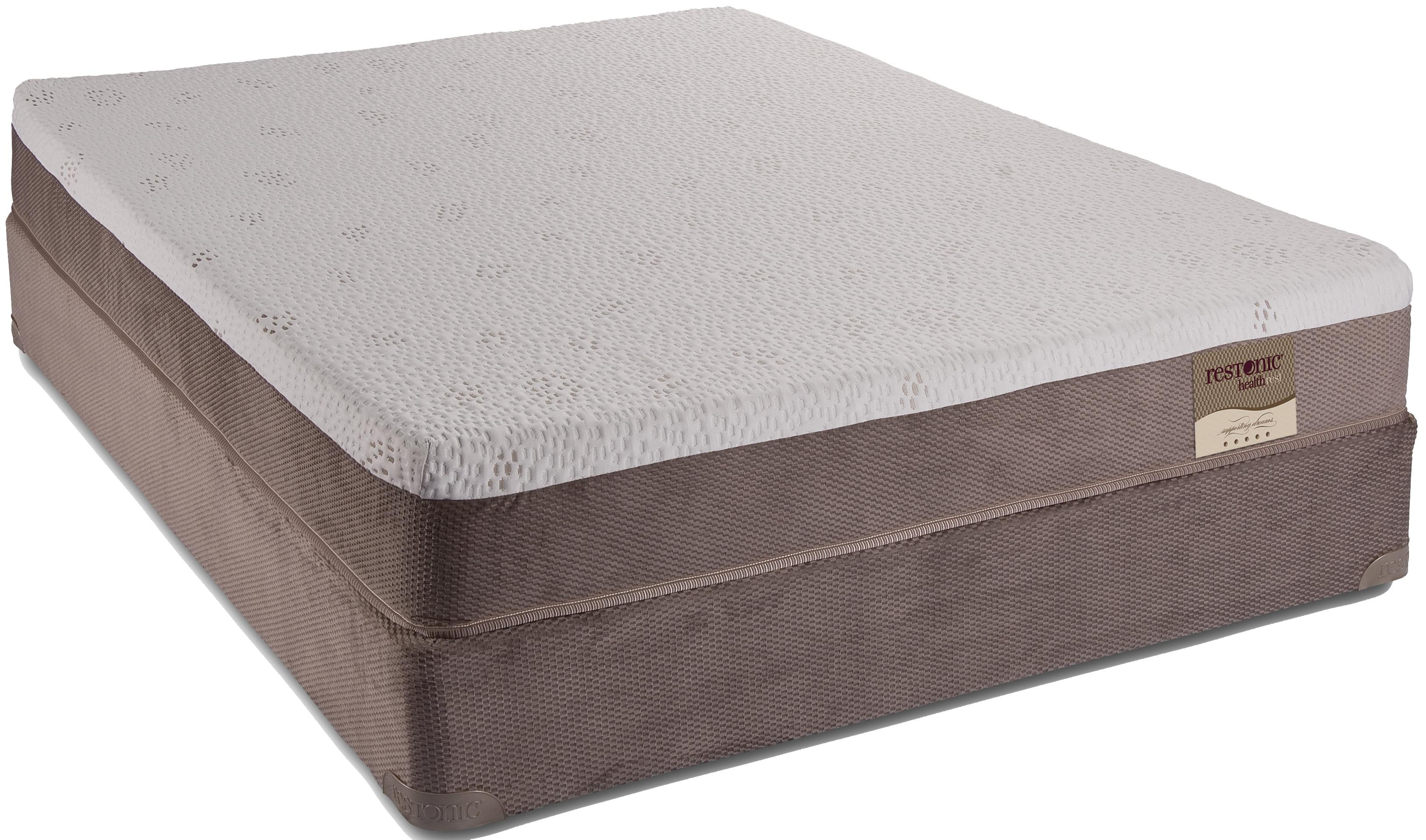 twin memory foam mattress by restonic wolf and gardiner wolf furniture. Black Bedroom Furniture Sets. Home Design Ideas