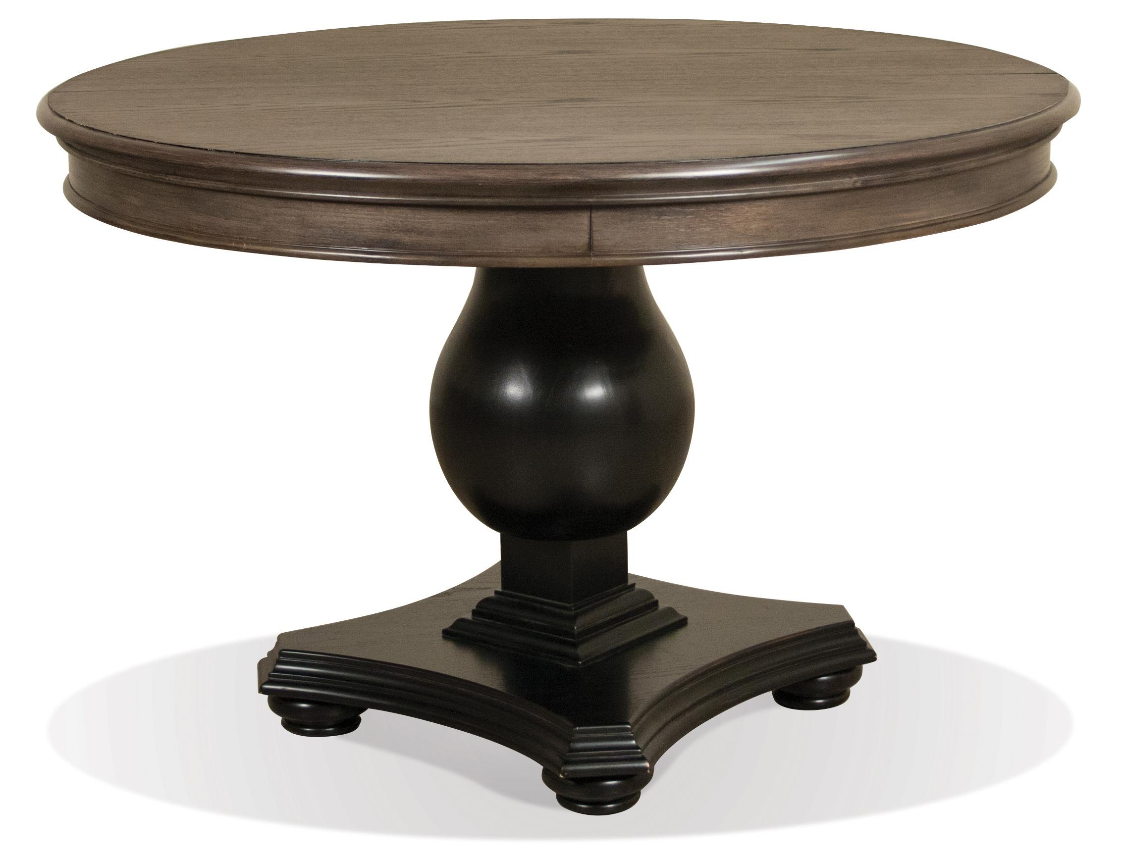 Round extension dining table w pedestal base by riverside for Round extension dining table