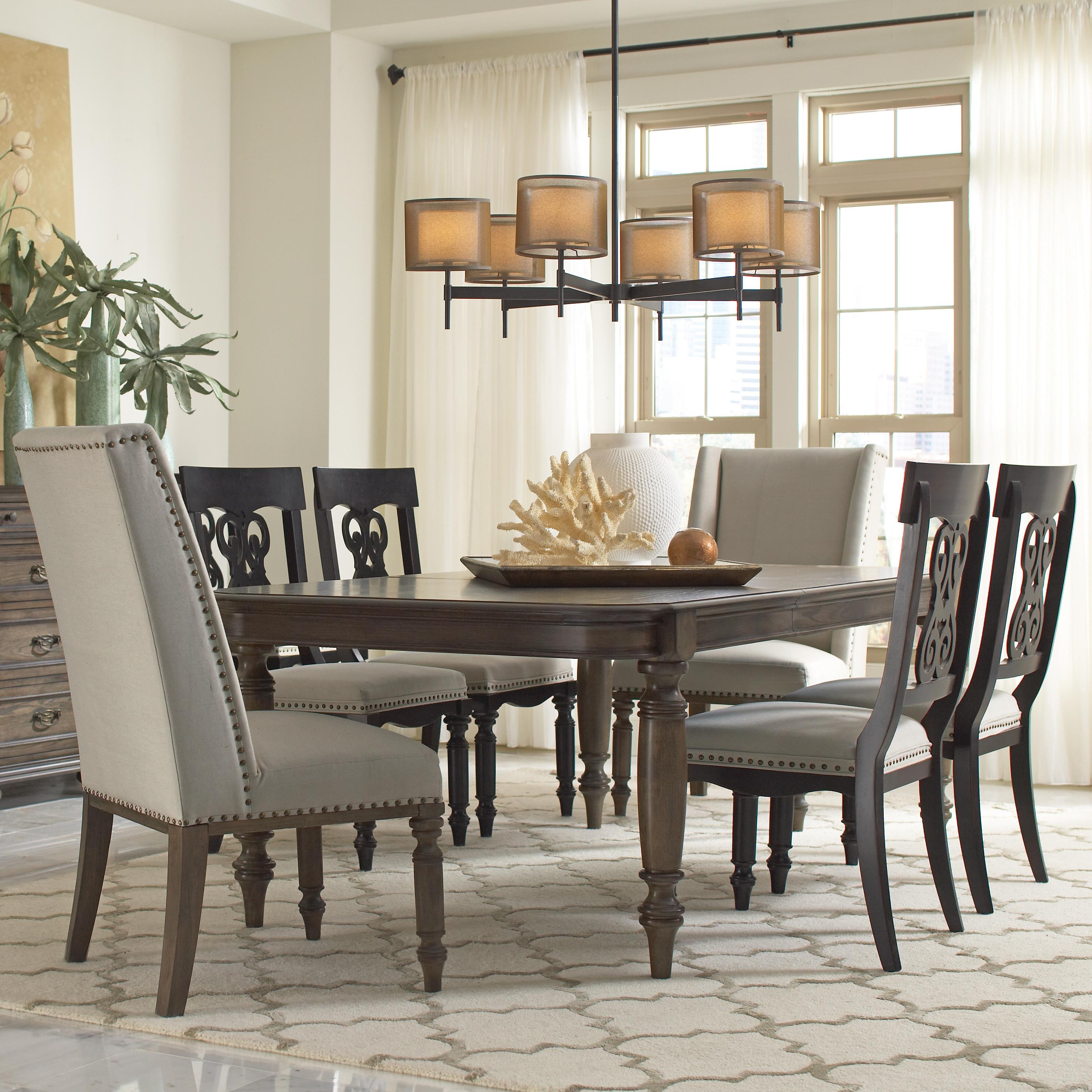 Hostess chair w nailhead trim by riverside furniture for Riverside dining room sets