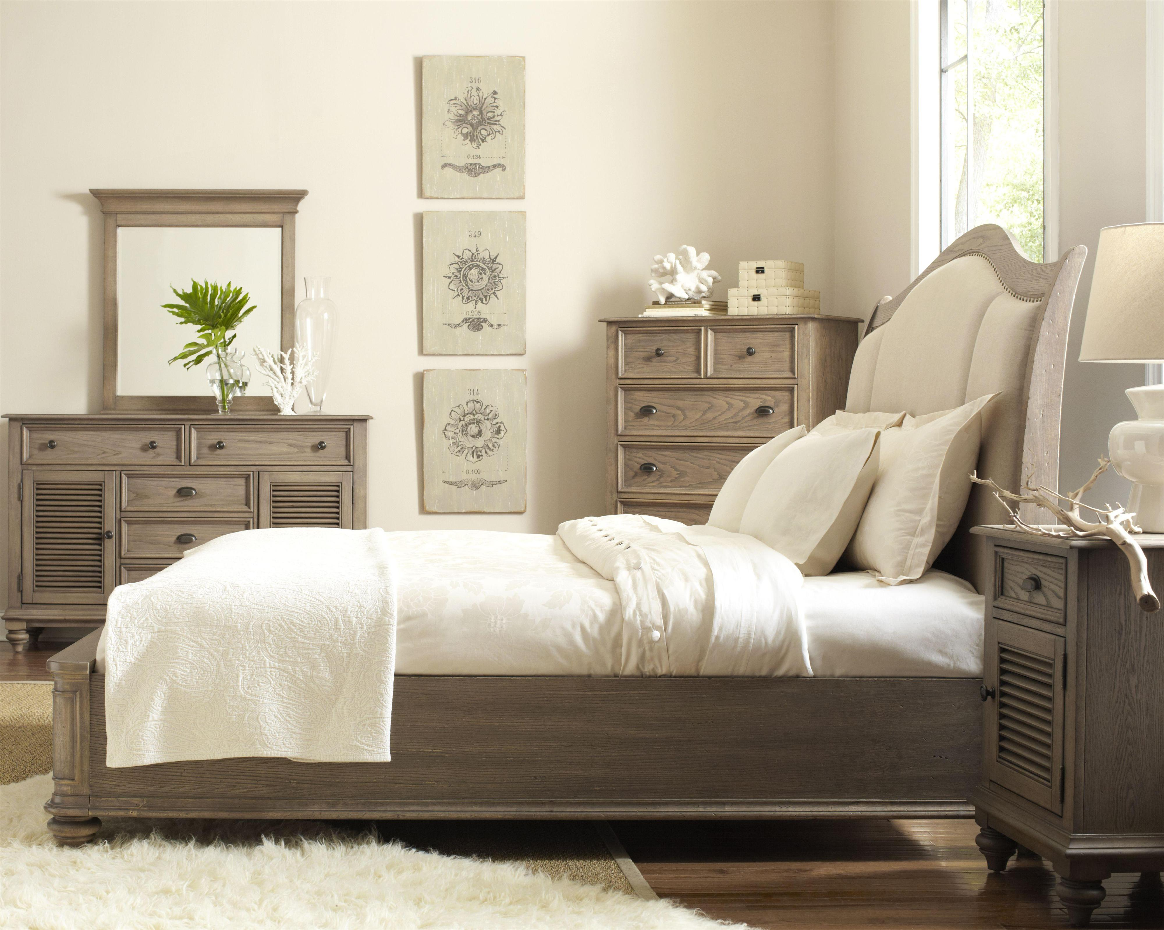 king upholstered sleigh headboard bed with nail head trim by riverside furniture wolf and. Black Bedroom Furniture Sets. Home Design Ideas