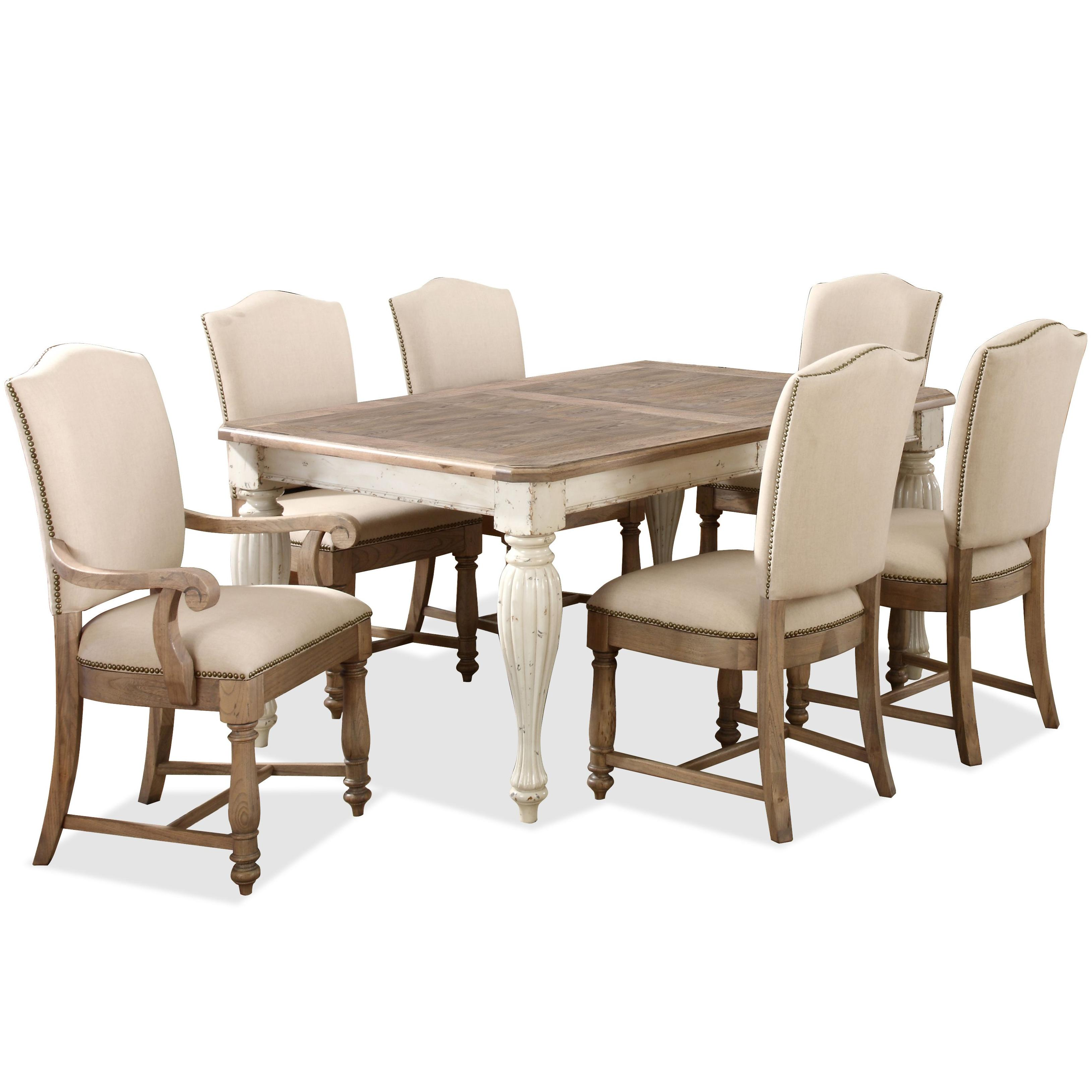 rectangular leg dining table with 18 leaf by riverside furniture wolf and gardiner wolf furniture. Black Bedroom Furniture Sets. Home Design Ideas