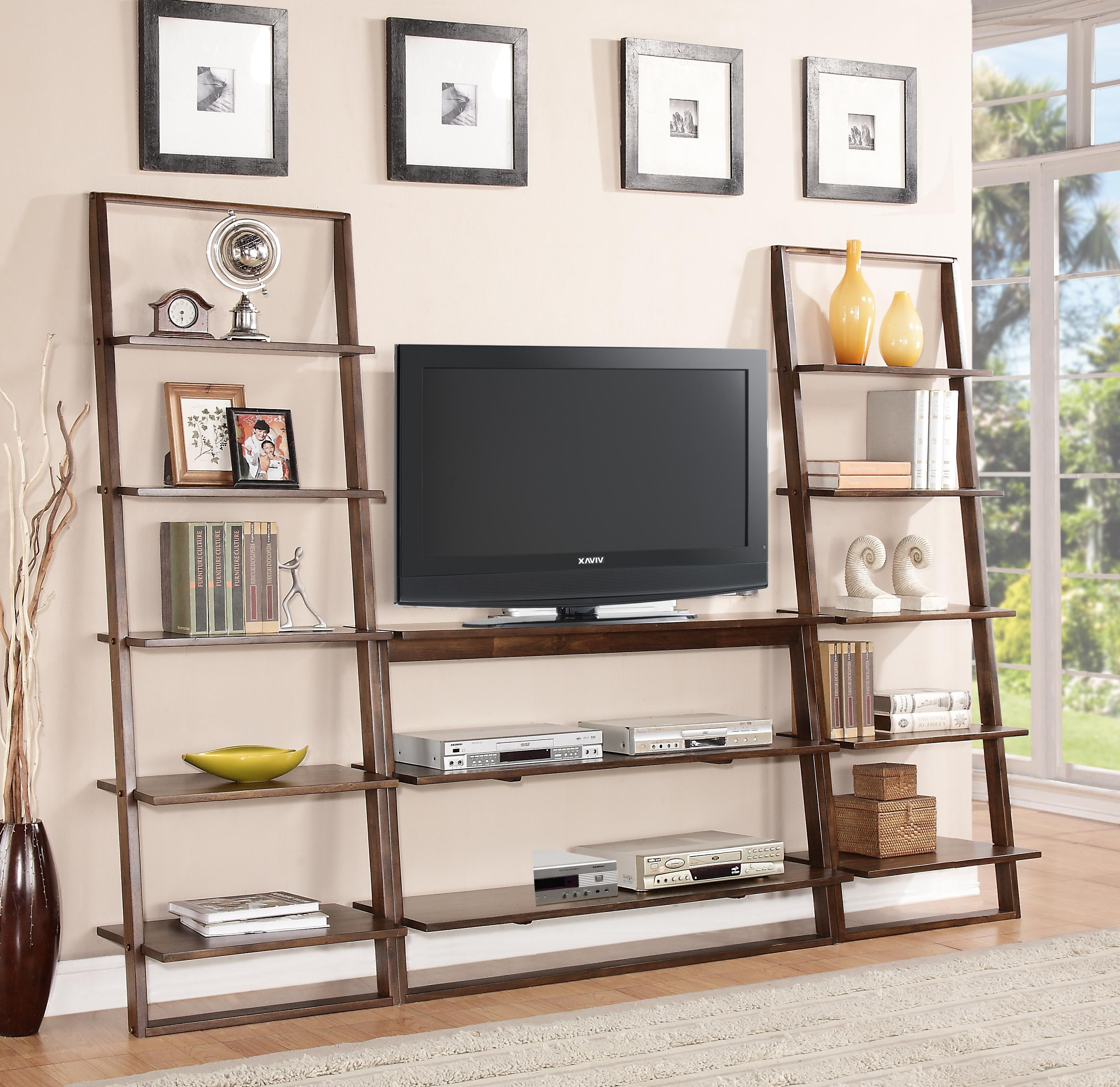leaning bookcase with 5 shelves by riverside furniture wolf and gardiner wolf furniture. Black Bedroom Furniture Sets. Home Design Ideas