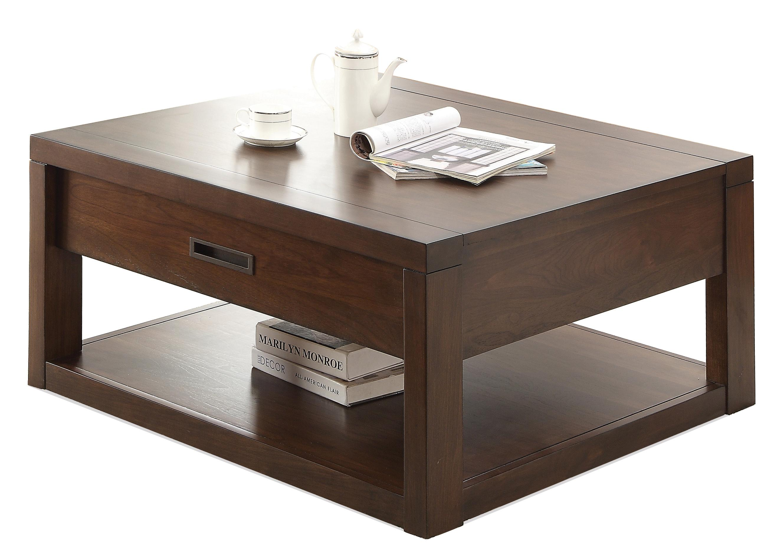 Square Cocktail Table w Casters by Riverside Furniture