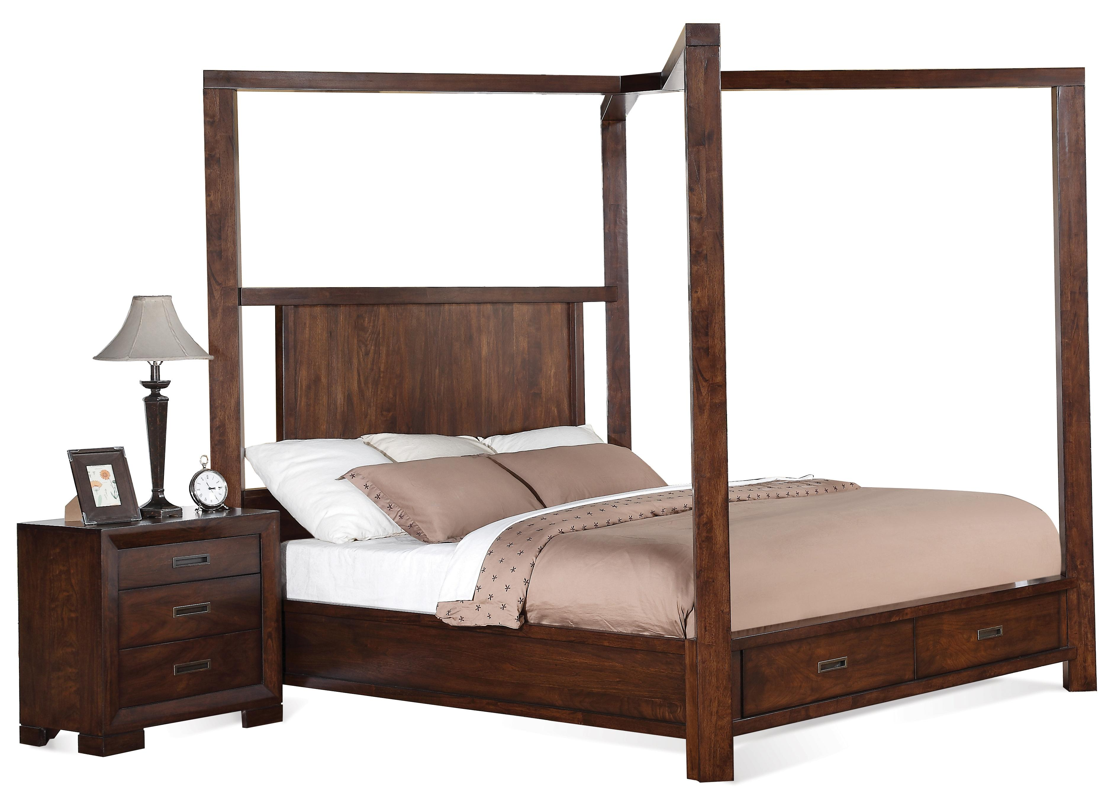 Cal King Canopy Storage Bed By Riverside Furniture Wolf And Gardiner Wolf Furniture