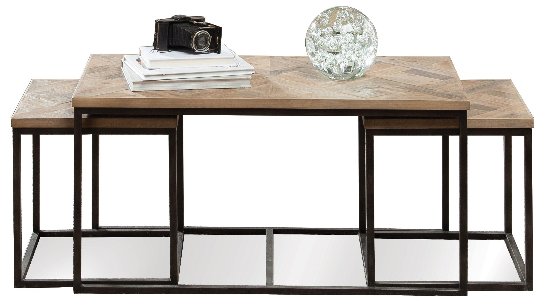 Amazing photo of Pc Rectangular Nesting Cocktail Table by Riverside Furniture Wolf  with #7C674F color and 2178x1206 pixels