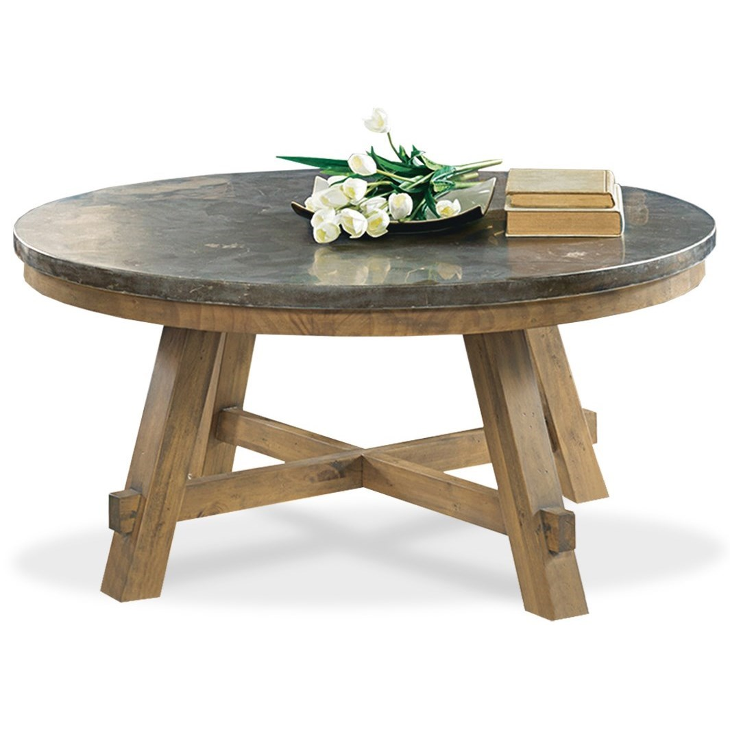 Round cocktail table with authentic bluestone top by for Coffee tables york pa