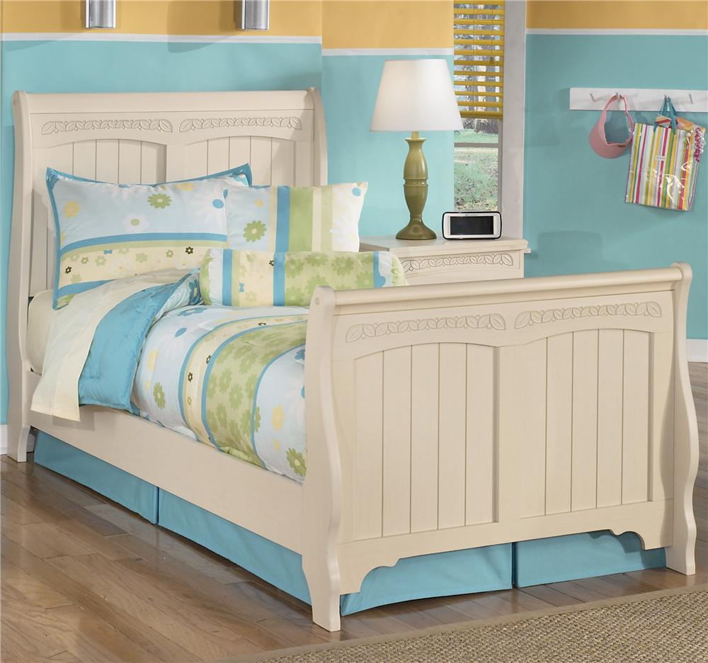 Twin Sleigh Bed By Signature Design By Ashley Wolf And