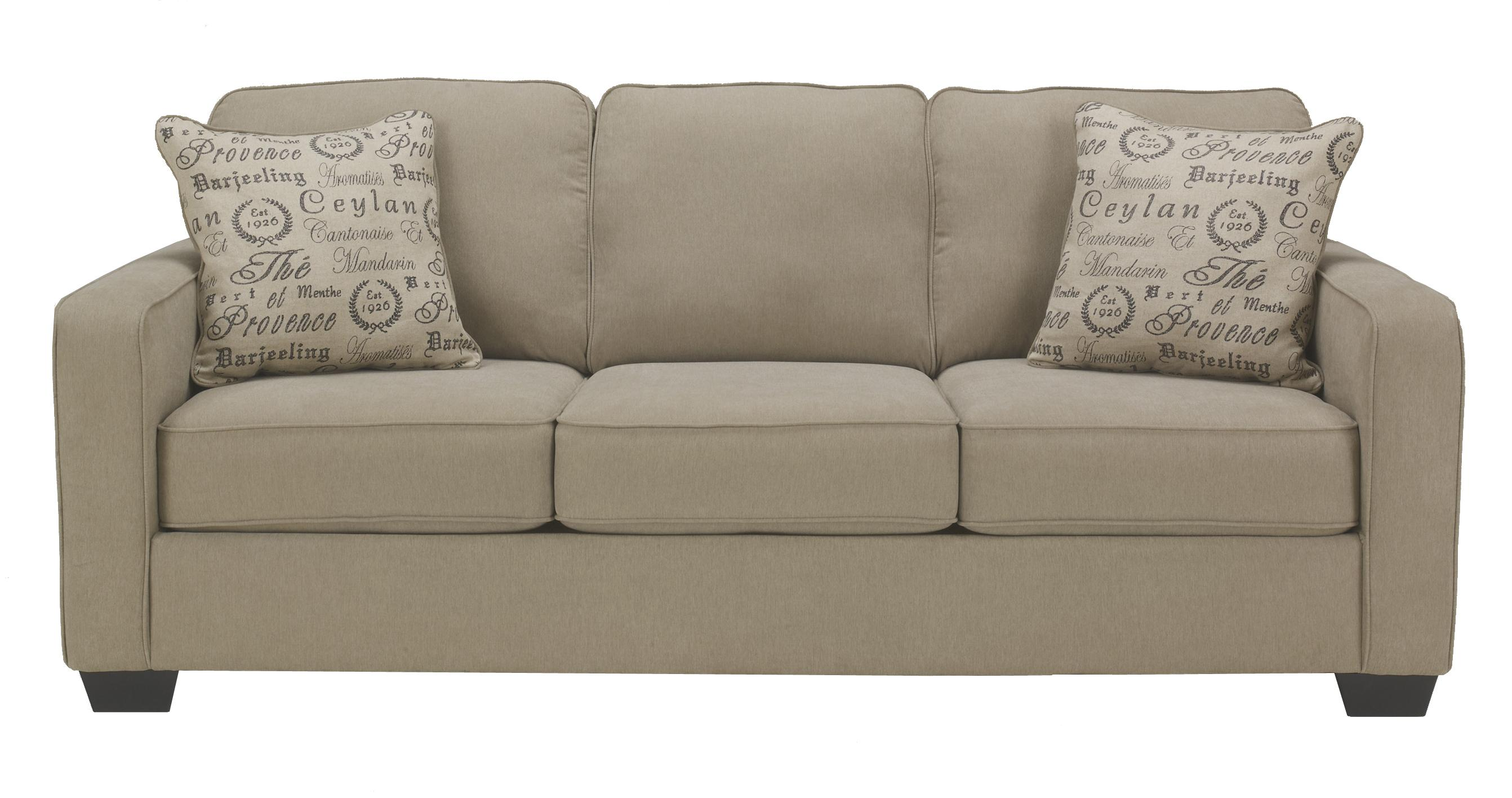 Contemporary track arm sofa by signature design by ashley for Design sofa outlet