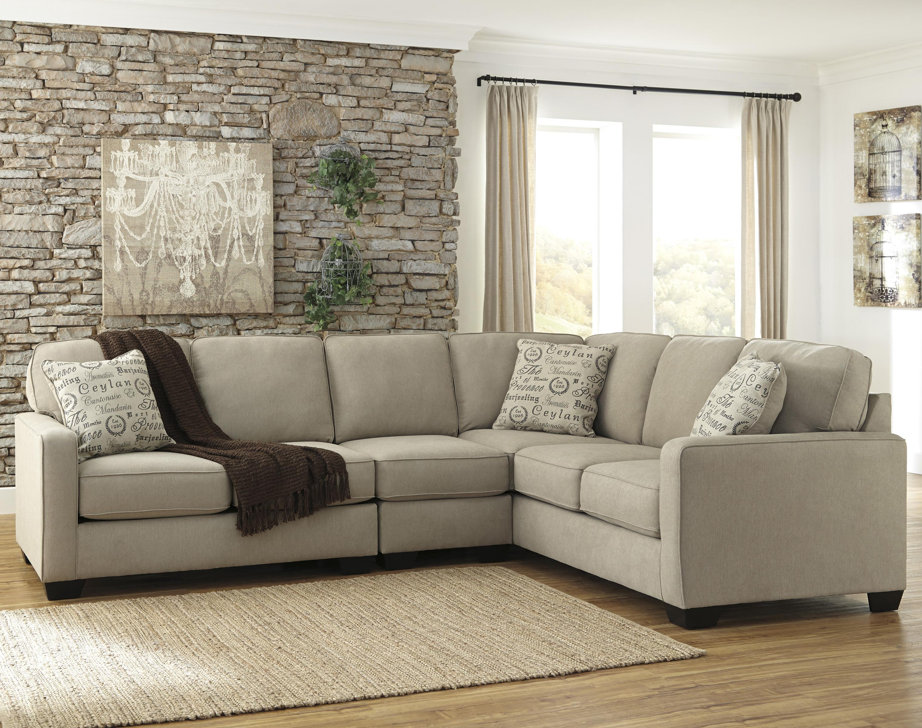 3 piece sectional with left loveseat by signature design for Sectional sofas wolf furniture