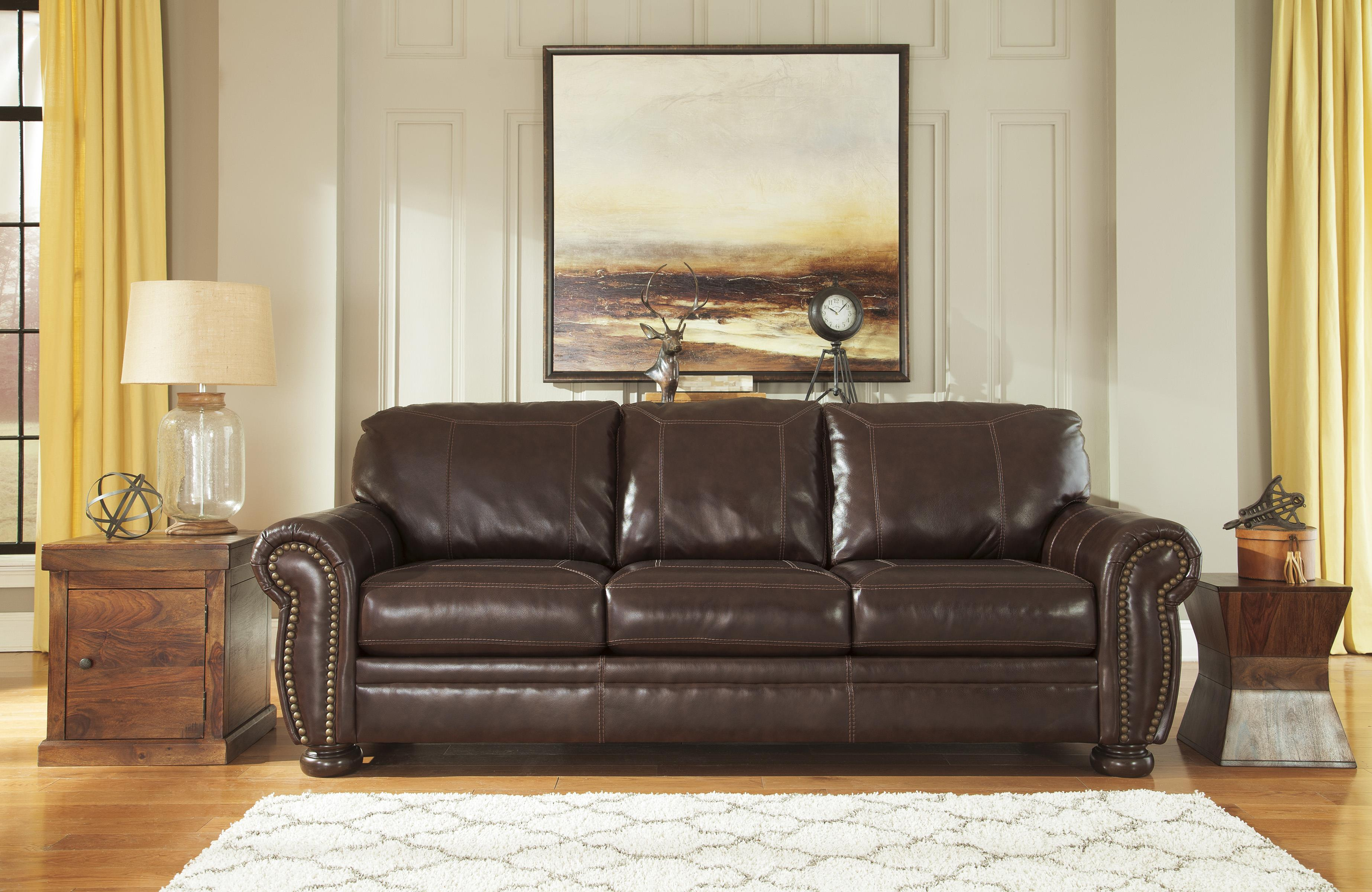 traditional queen sofa sleeper with memory foam mattress by signature design by ashley wolf. Black Bedroom Furniture Sets. Home Design Ideas