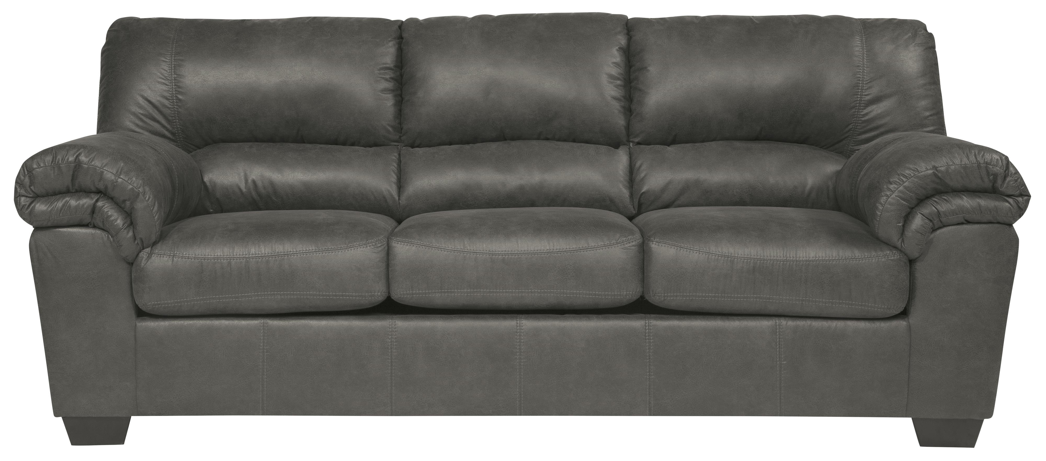 casual faux leather full sofa sleeper by signature design by ashley wolf and gardiner wolf. Black Bedroom Furniture Sets. Home Design Ideas