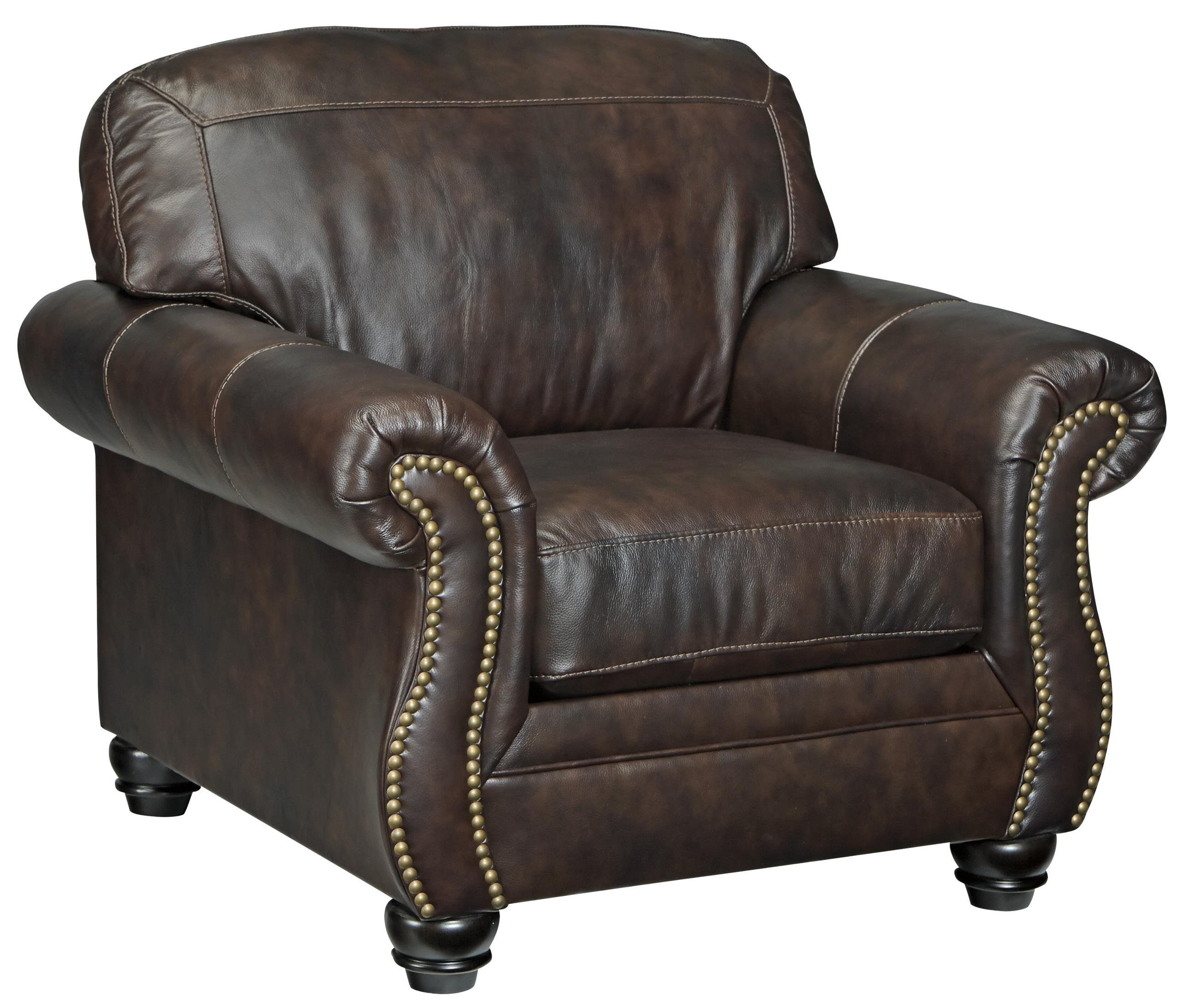 Traditional leather match chair with rolled arms for Traditional leather furniture