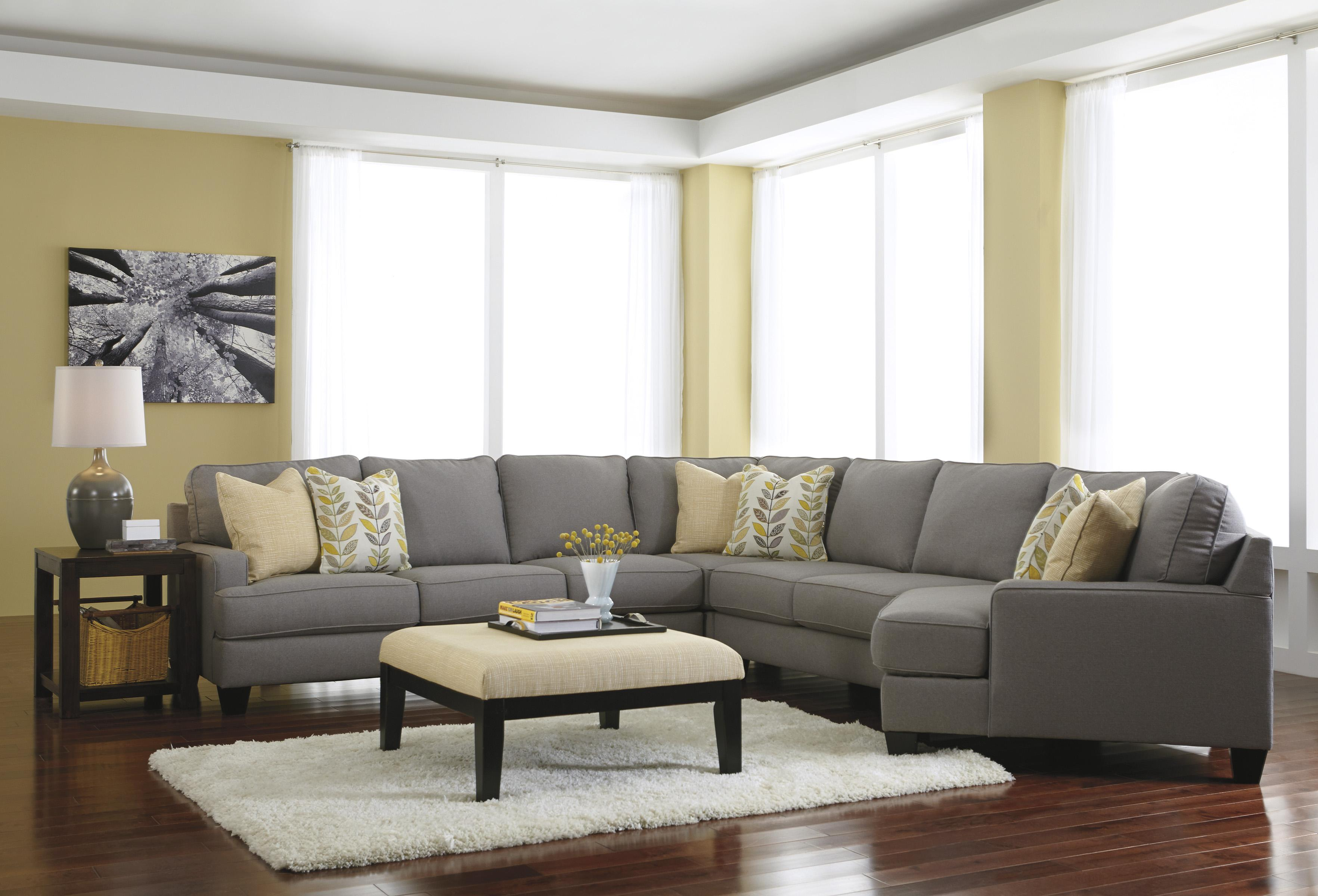 Modern 5 piece sectional sofa with right cuddler for Small sectional sofa with cuddler