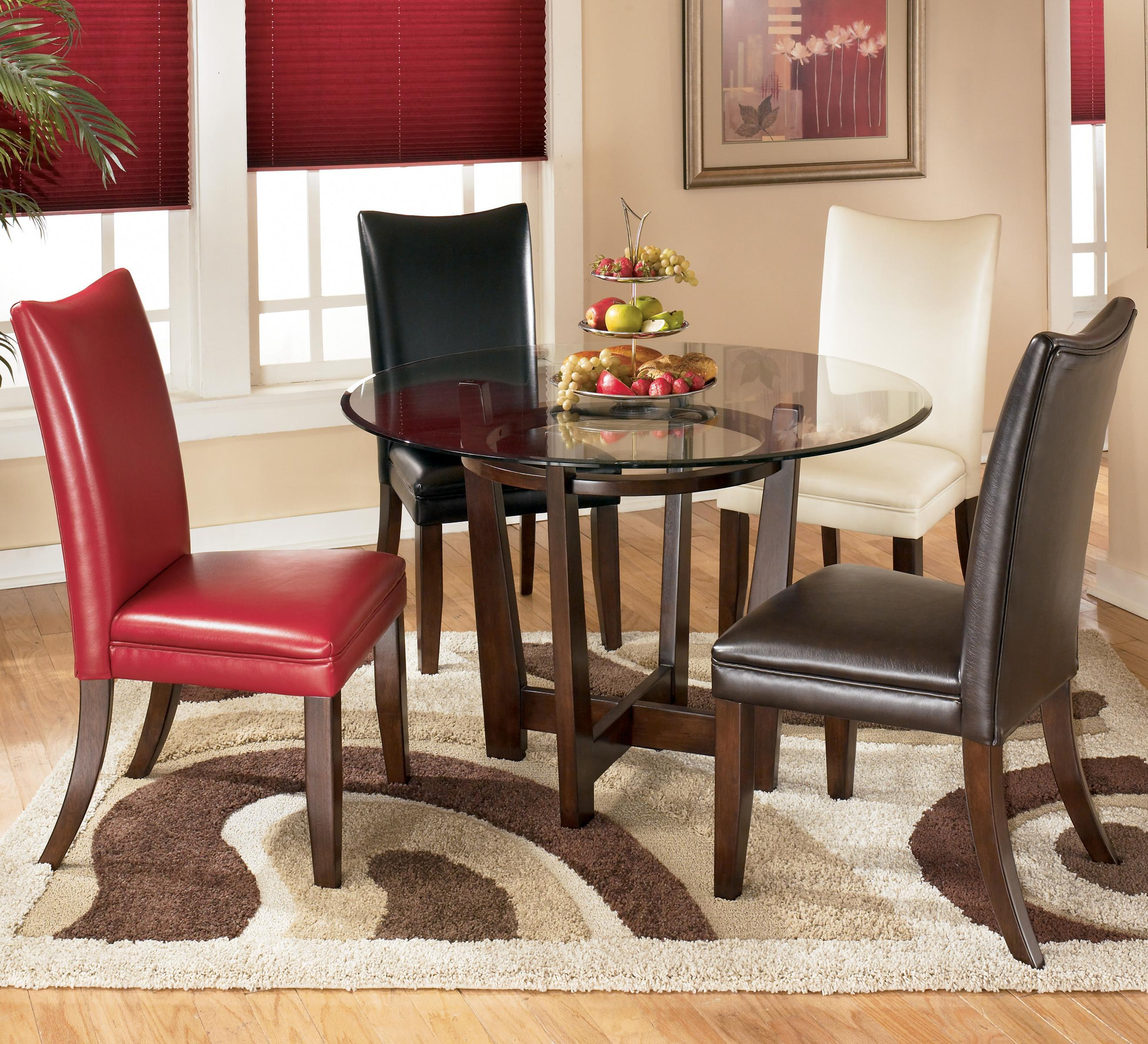 5 Piece Round Dining Table Set with 4 Different Color
