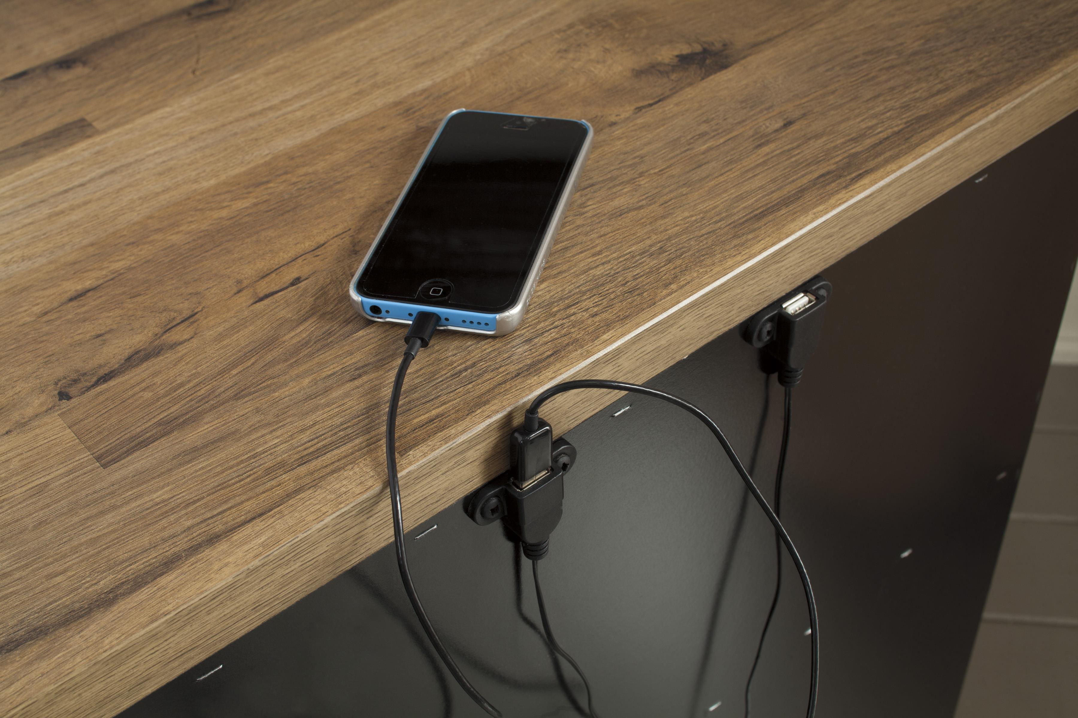 Height Of Nightstand Two Drawer Night Stand With 2 Usb Chargers By Signature