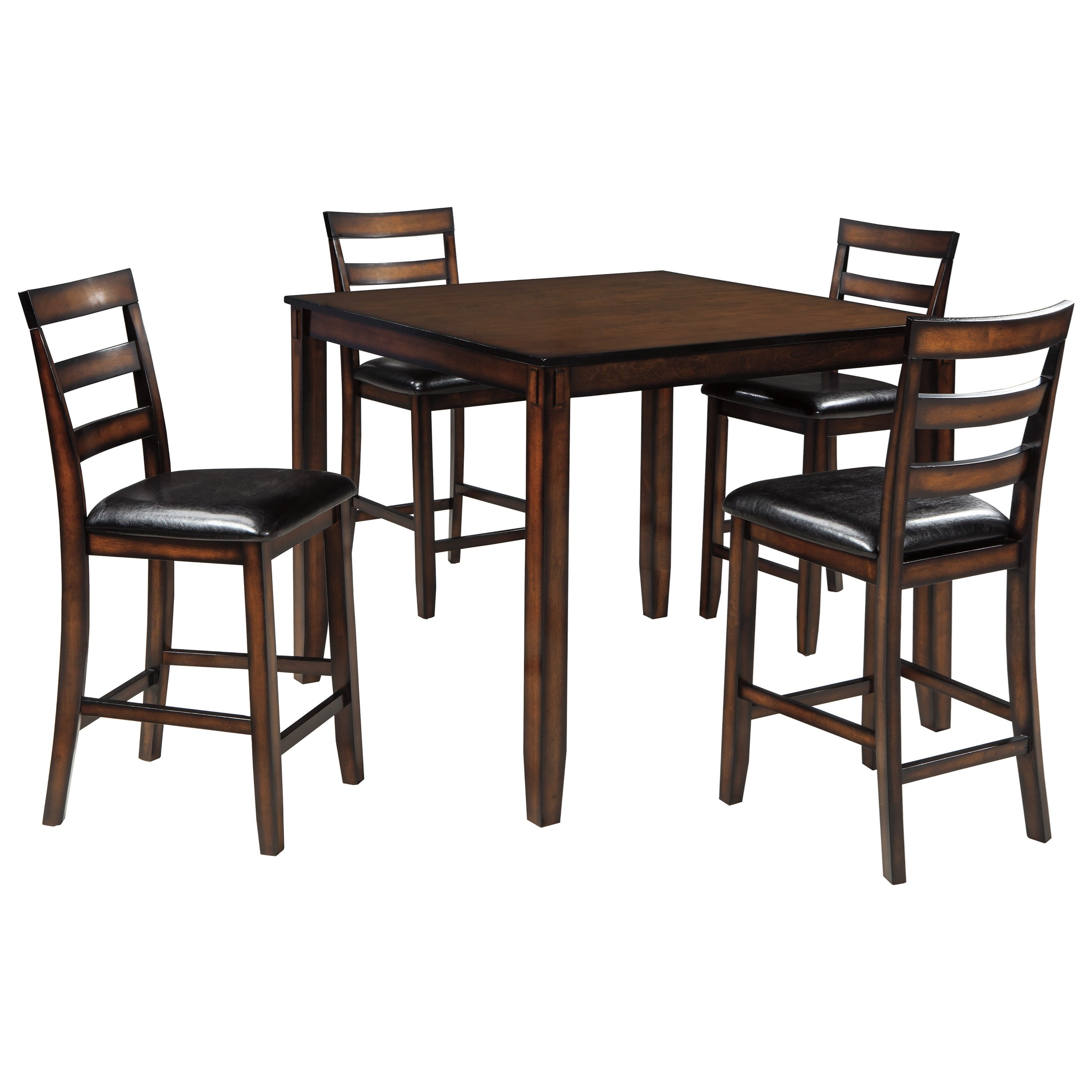 5 piece dining room sets burnished brown 5 dining room counter table set by 22864