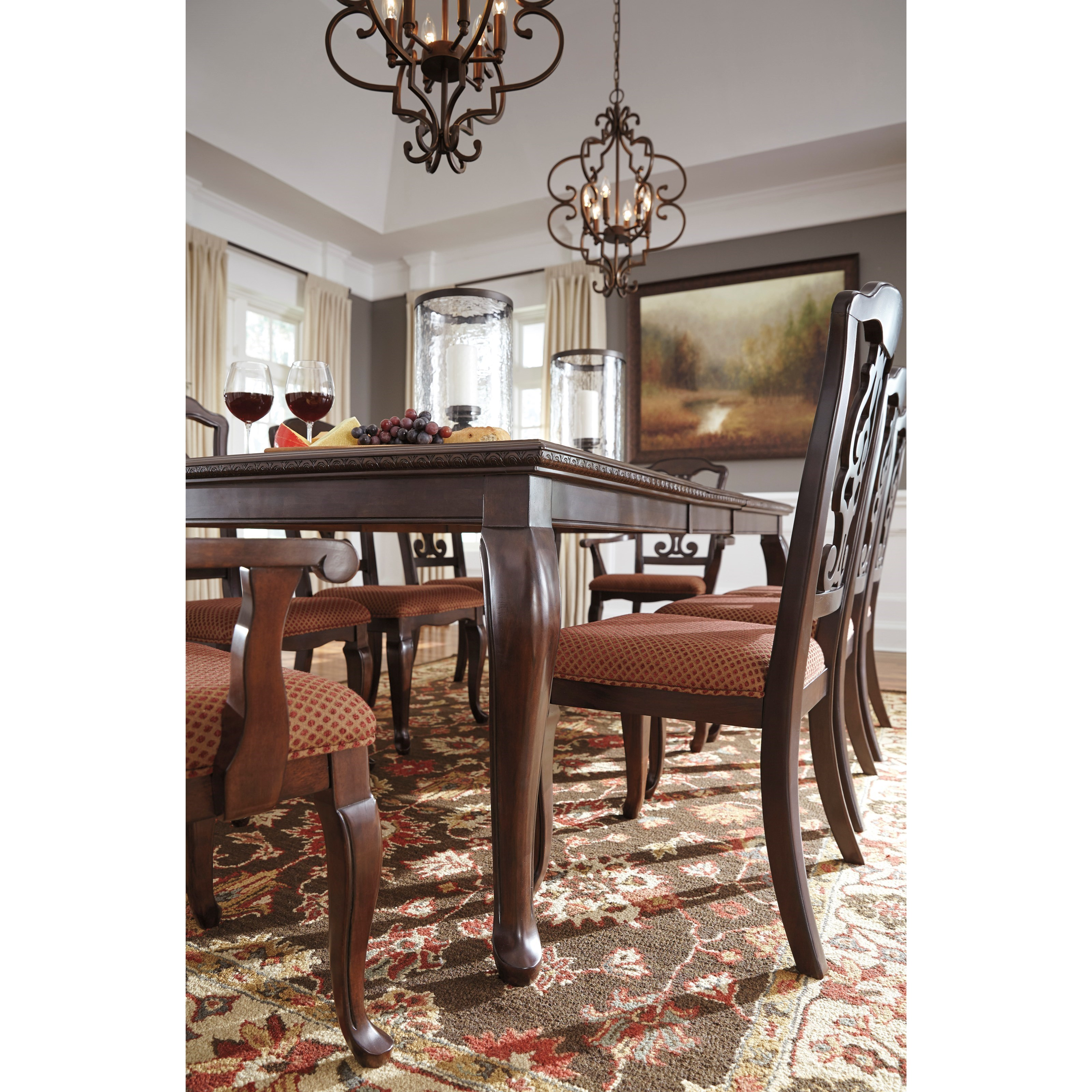 Traditional rectangular dining room table with 18 leaf by for Rectangular dining room tables with leaves