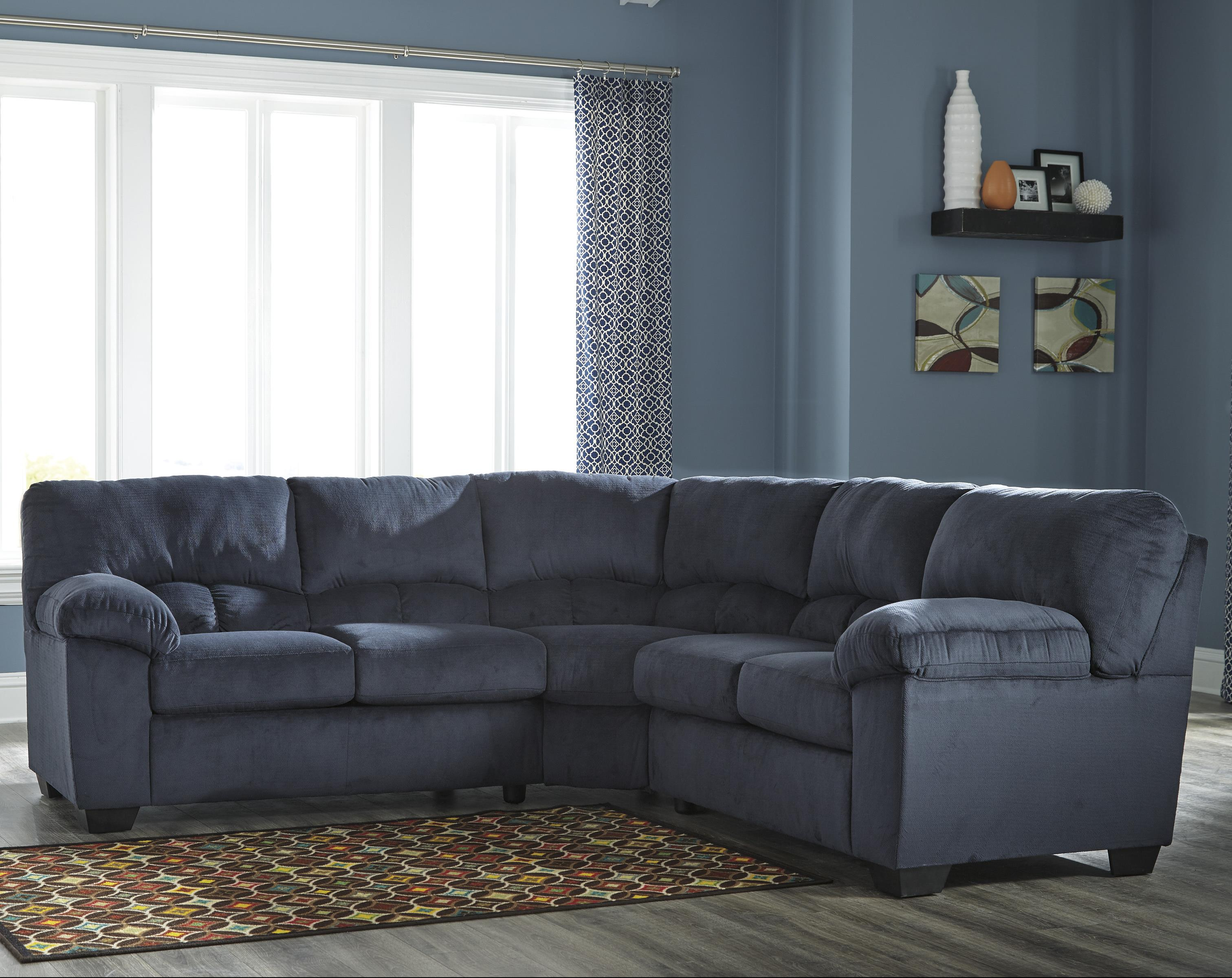 Casual Contemporary Corner Sectional by Signature Design