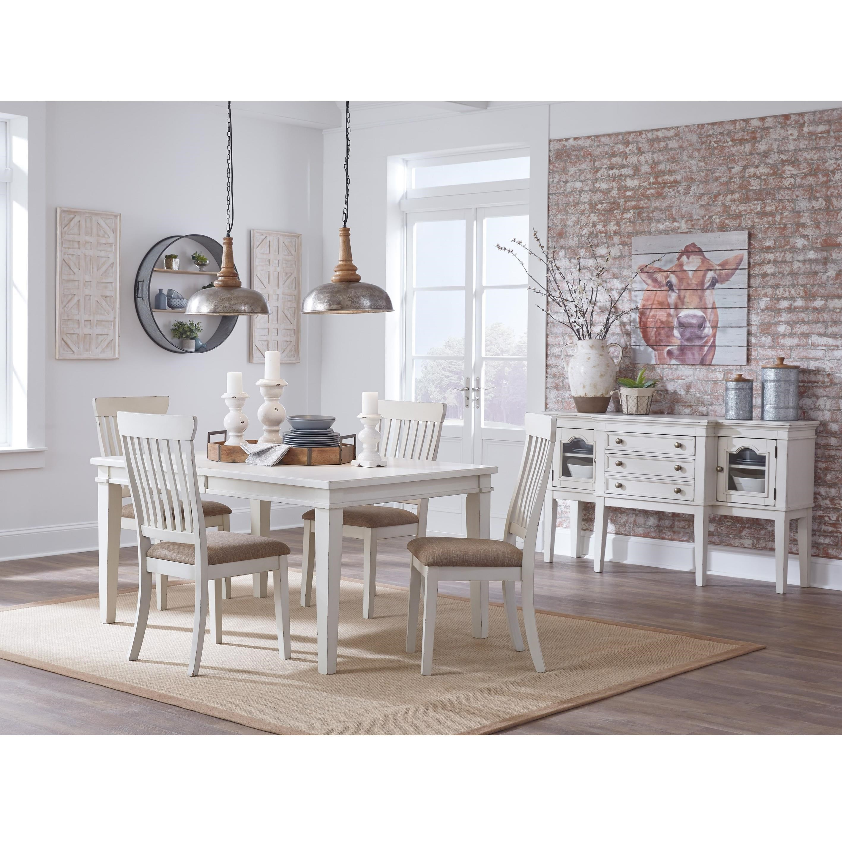 casual dining room group by signature design by ashley. Black Bedroom Furniture Sets. Home Design Ideas