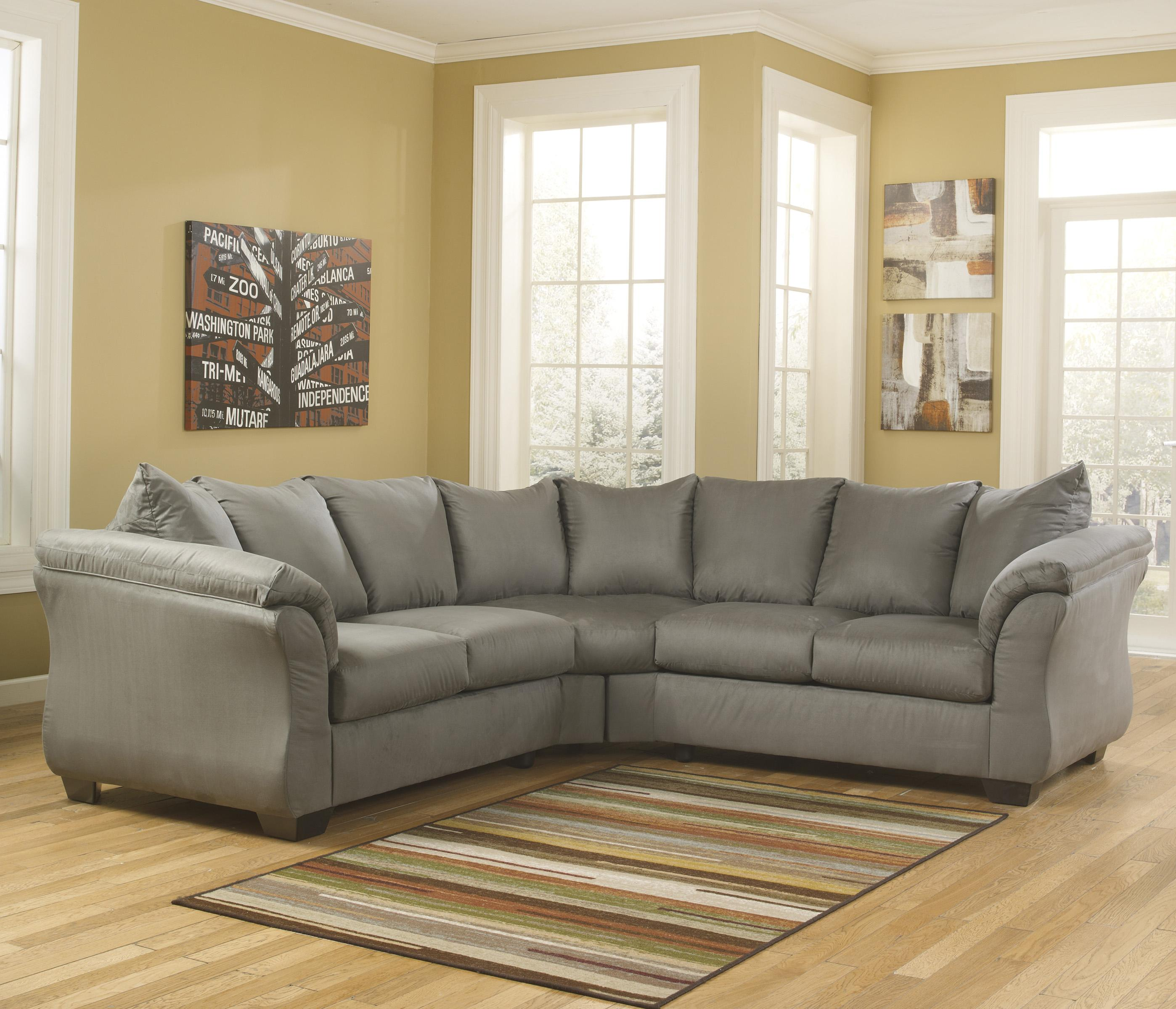 Contemporary sectional sofa with sweeping pillow arms by for Sectional sofas wolf furniture