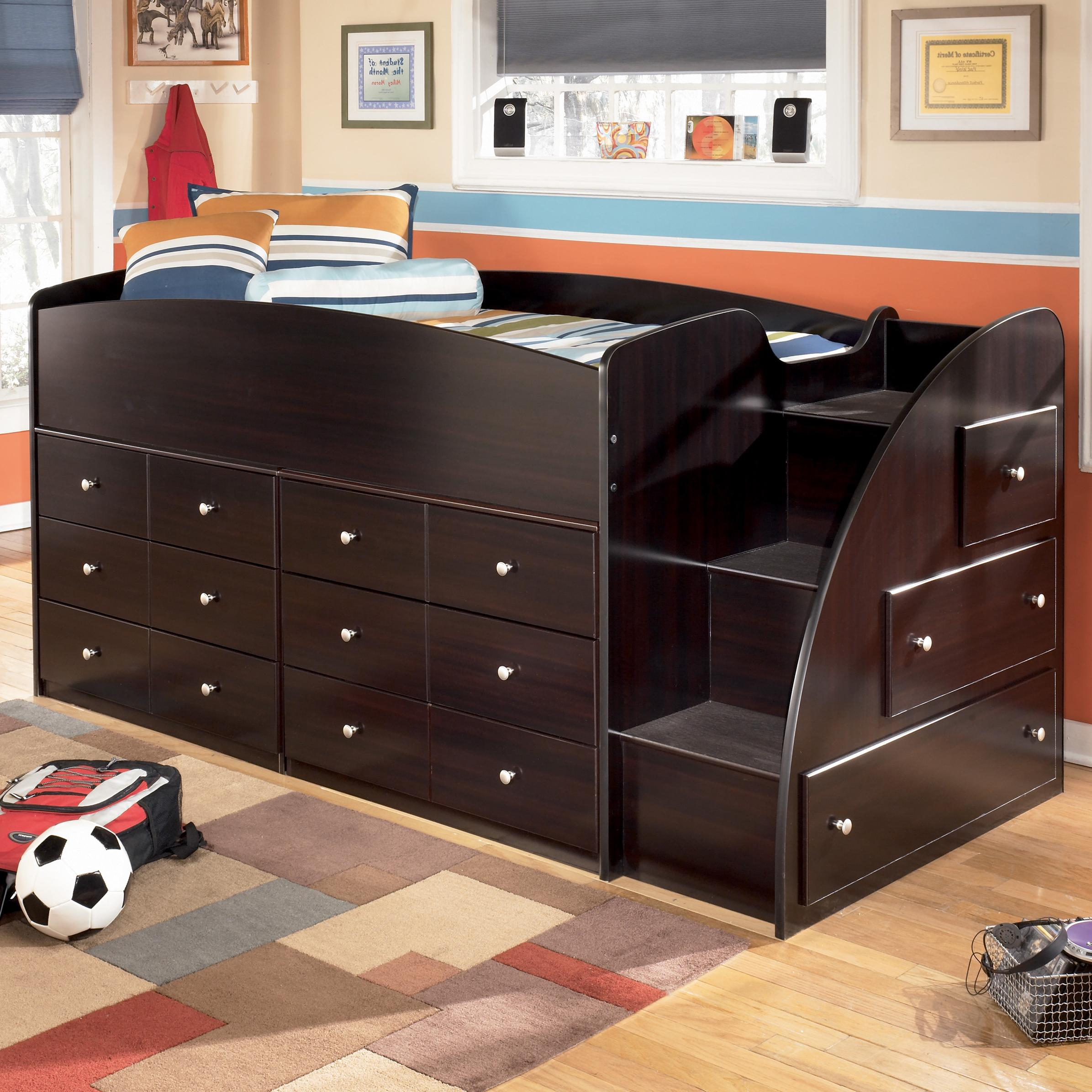Twin Loft Bed With Right Steps Chest Storage By
