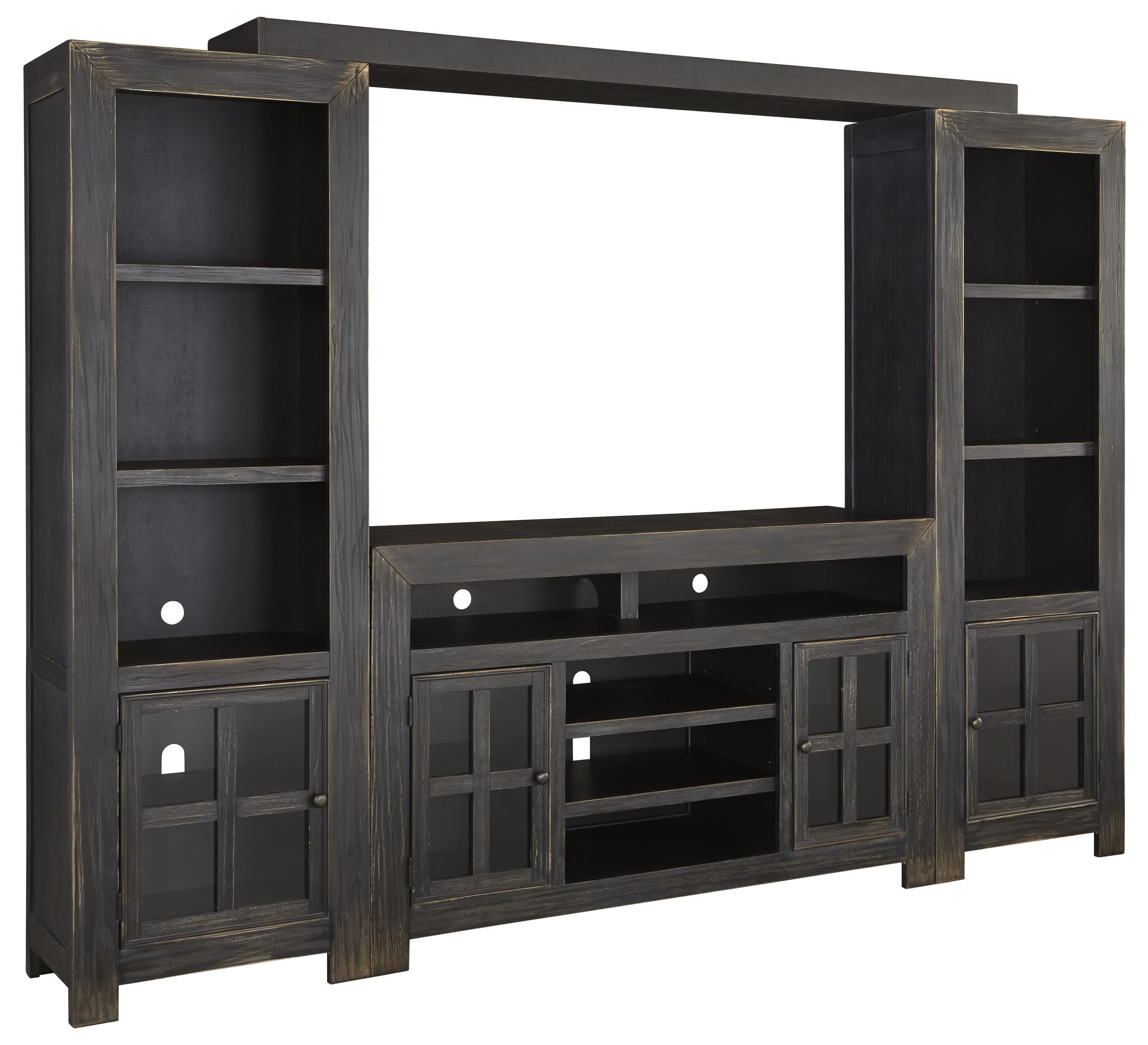 entertainment wall unit w large tv stand bridge and