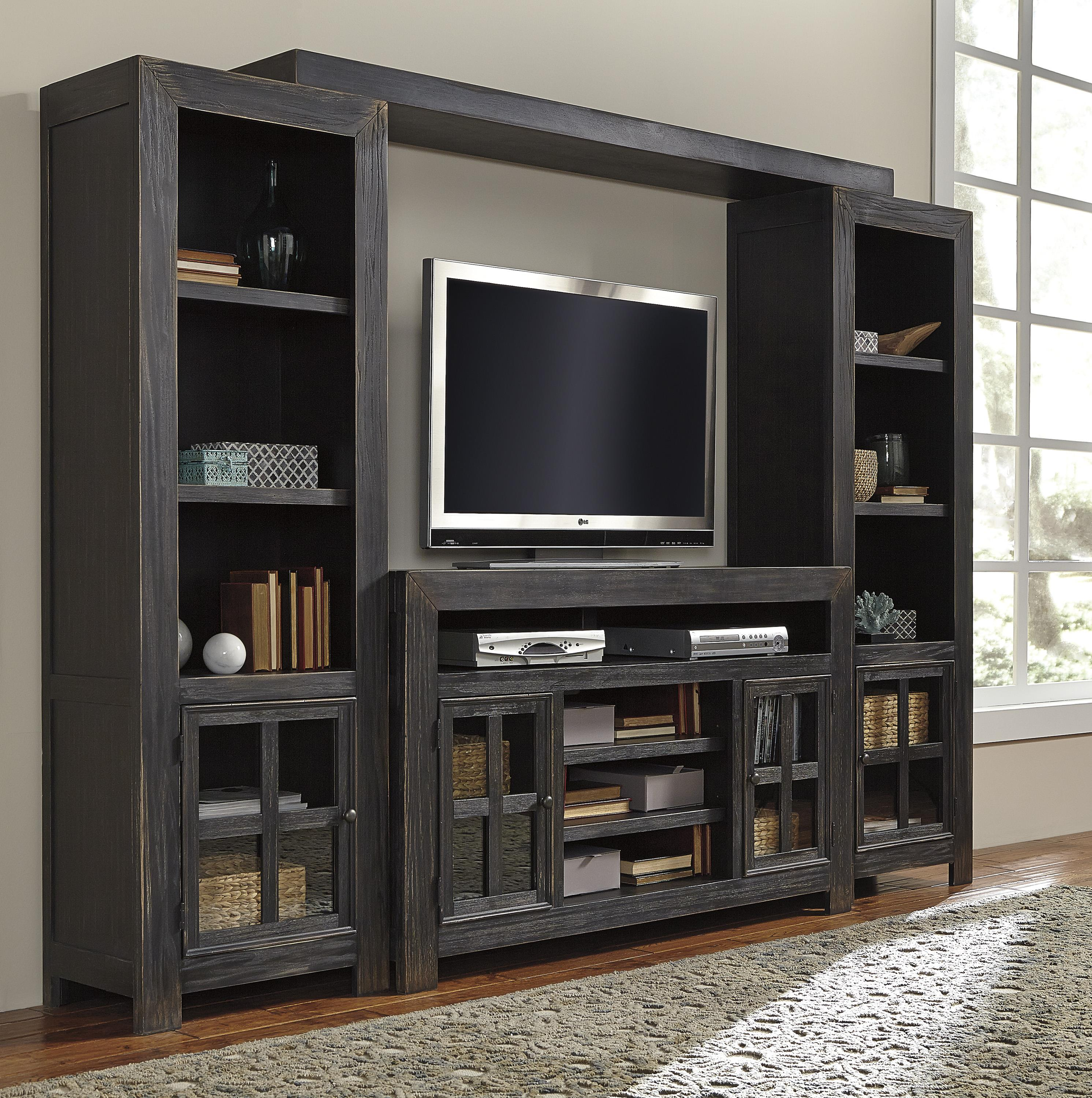 Entertainment Wall Unit w TV Stand Bridge and