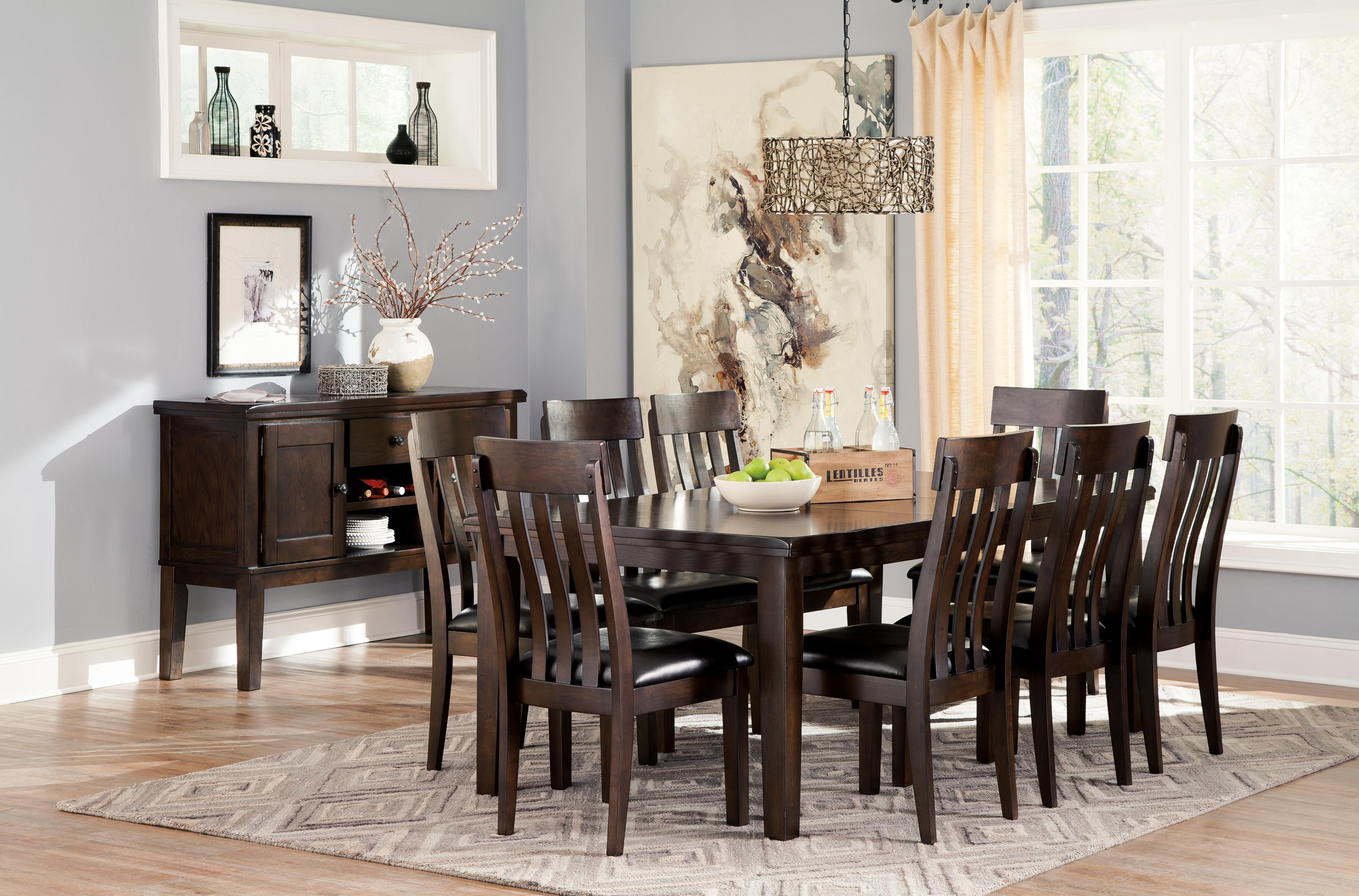 9 piece rectangular dining room table w oak veneers and for Dining room tables 9 piece
