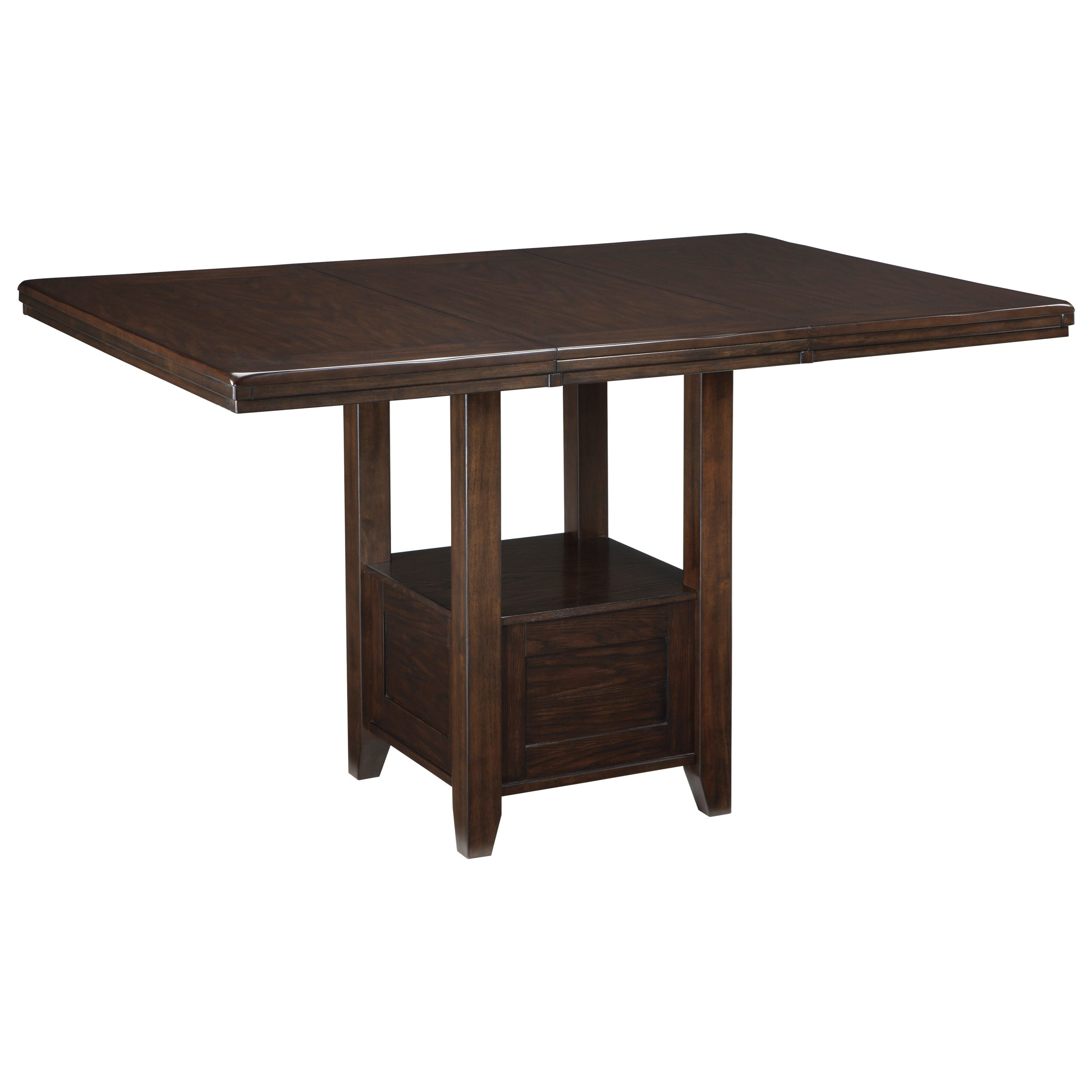 rectangular dining room extension table with shelf by signature design