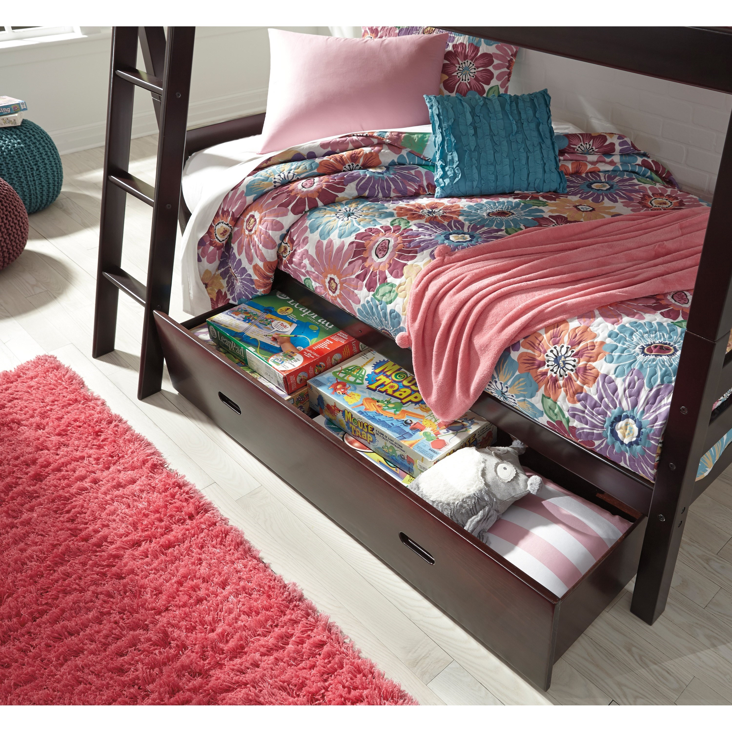 twin bed with storage underneath solid pine bunk bed w bed storage by 20005